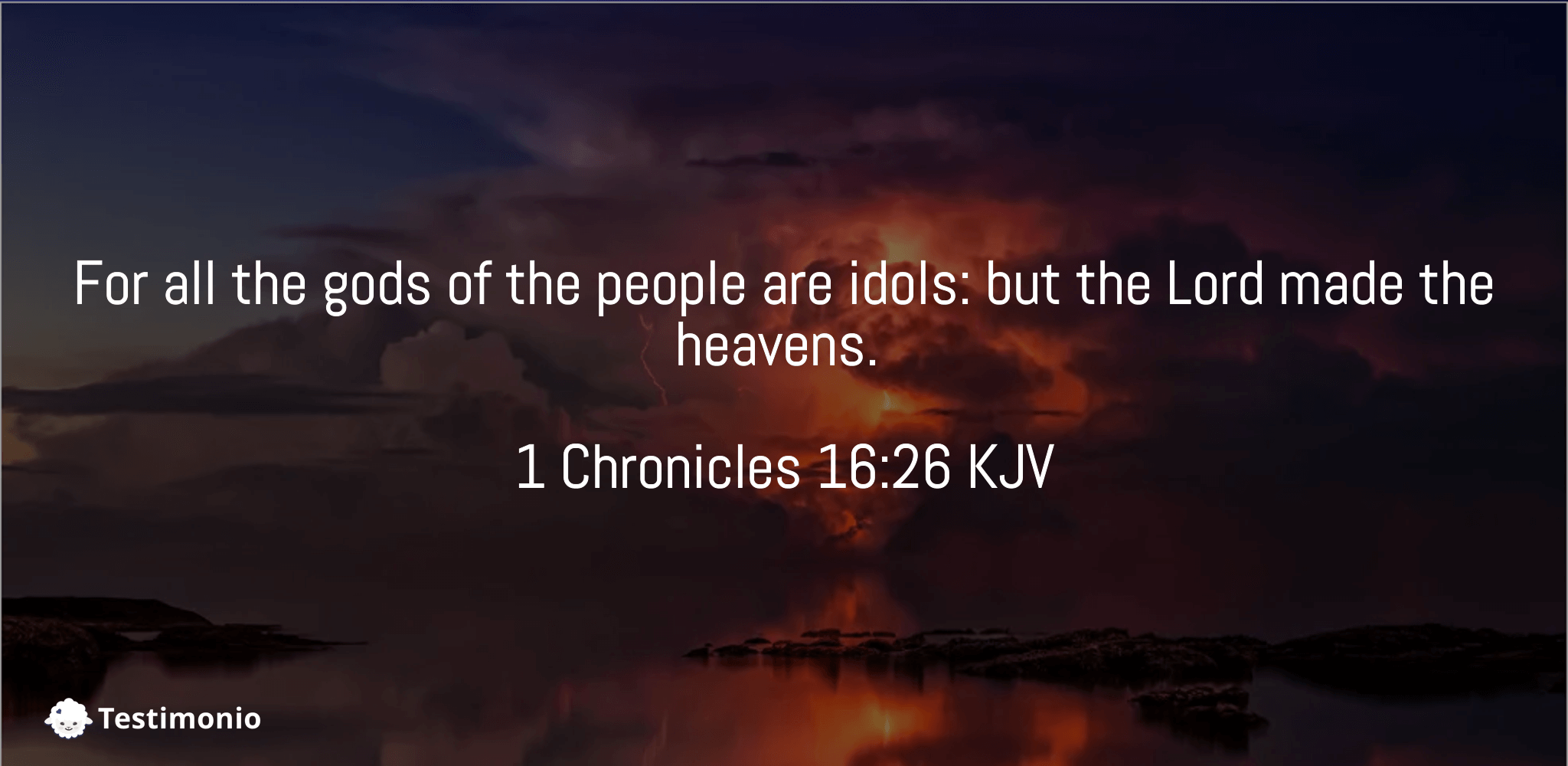 1 Chronicles 16:26