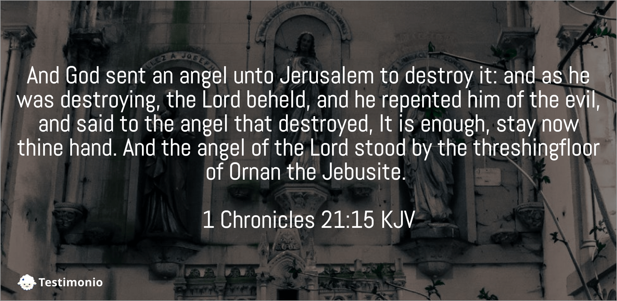 1 Chronicles 21:15