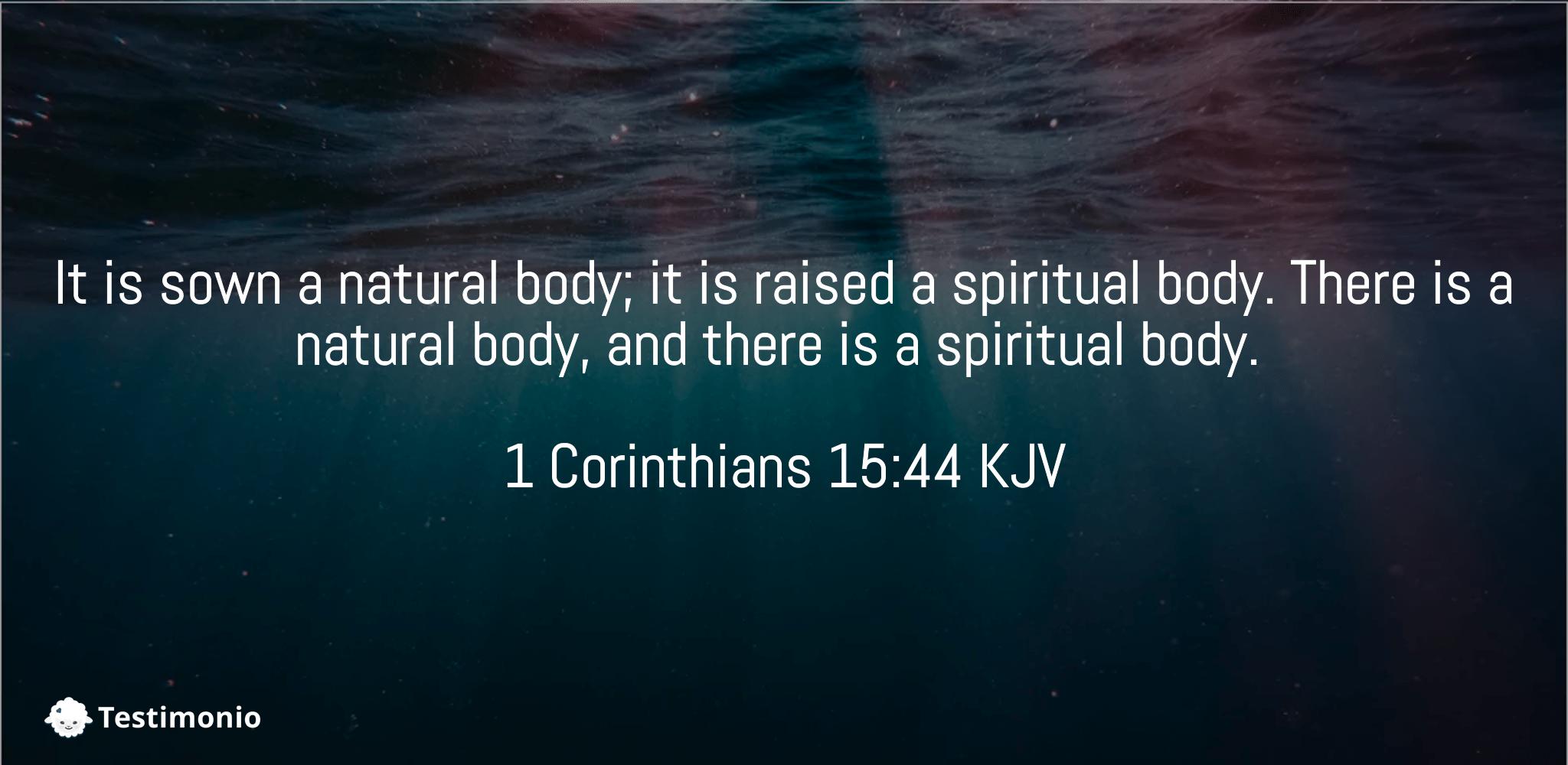 1 Corinthians 15:44