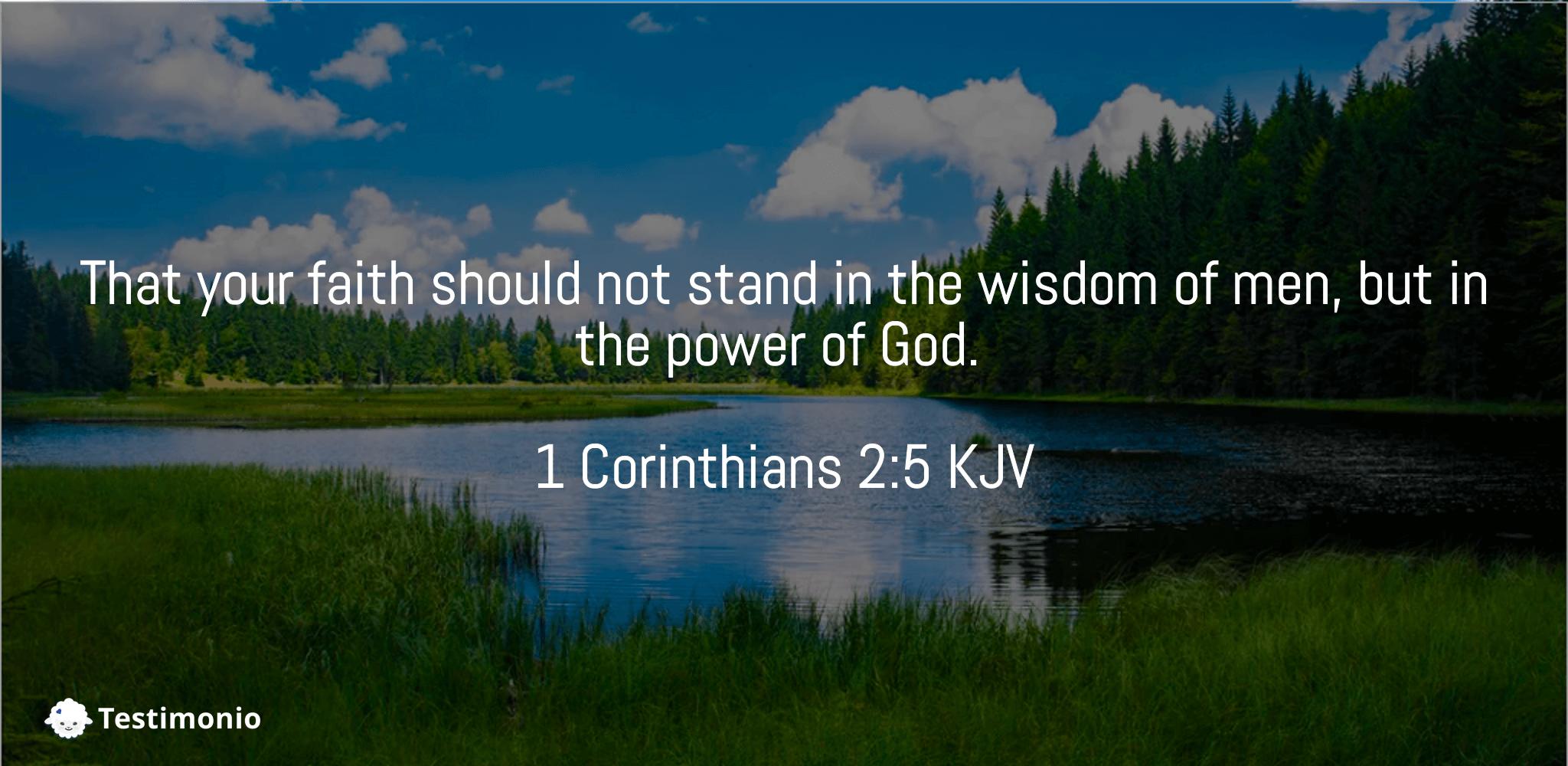 1 Corinthians 2:5