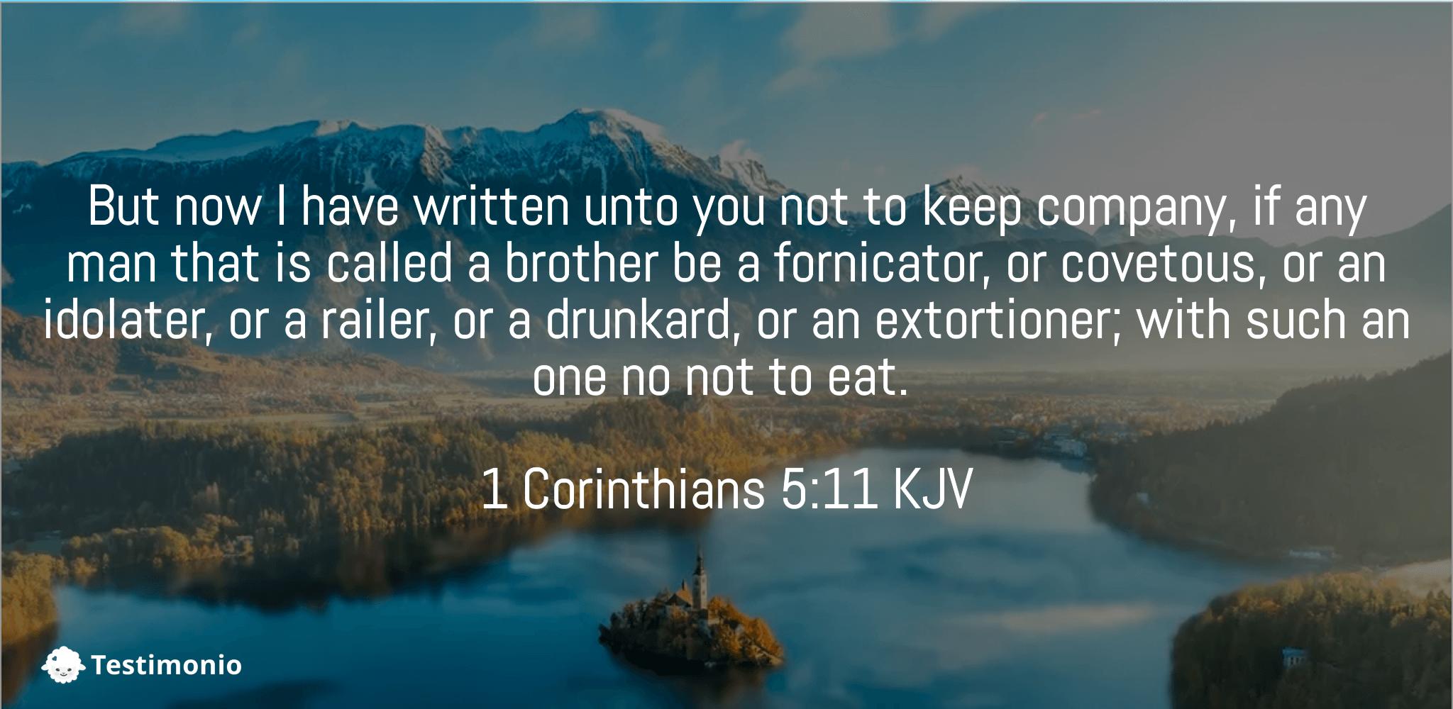 1 Corinthians 5:11