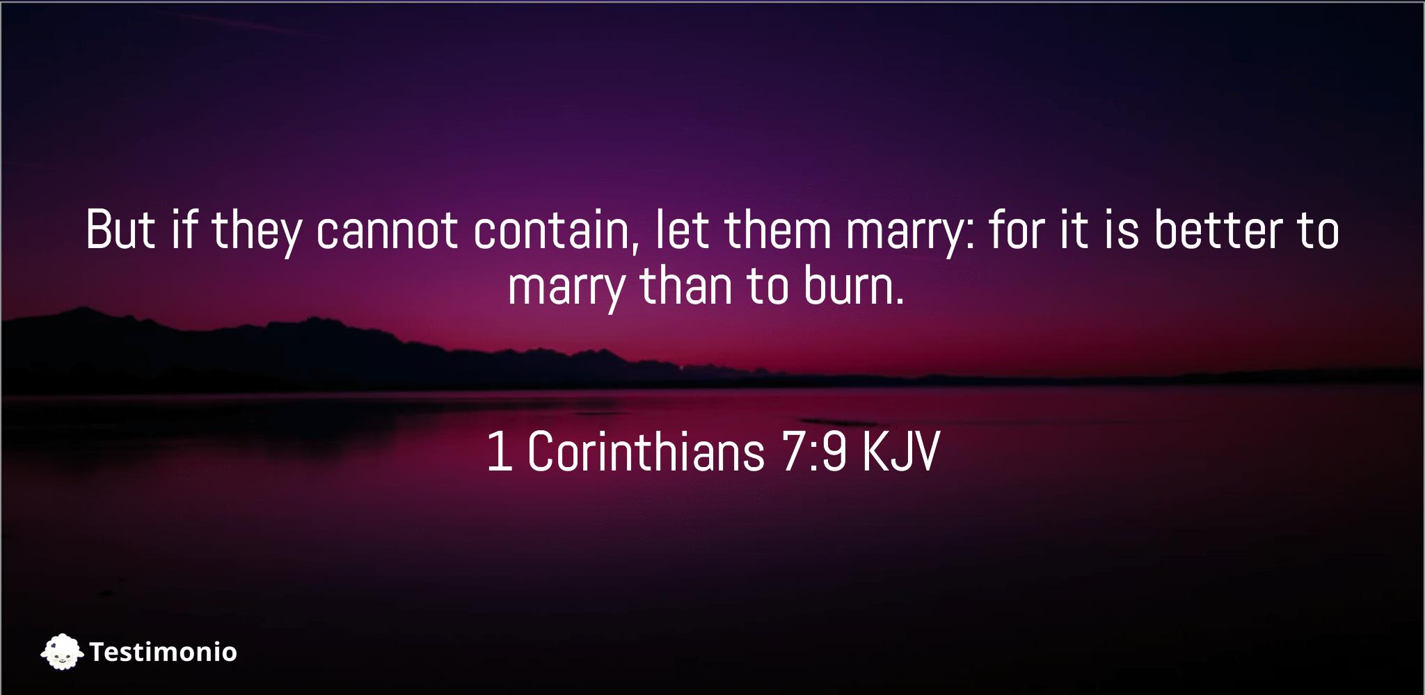 1 Corinthians 7:9