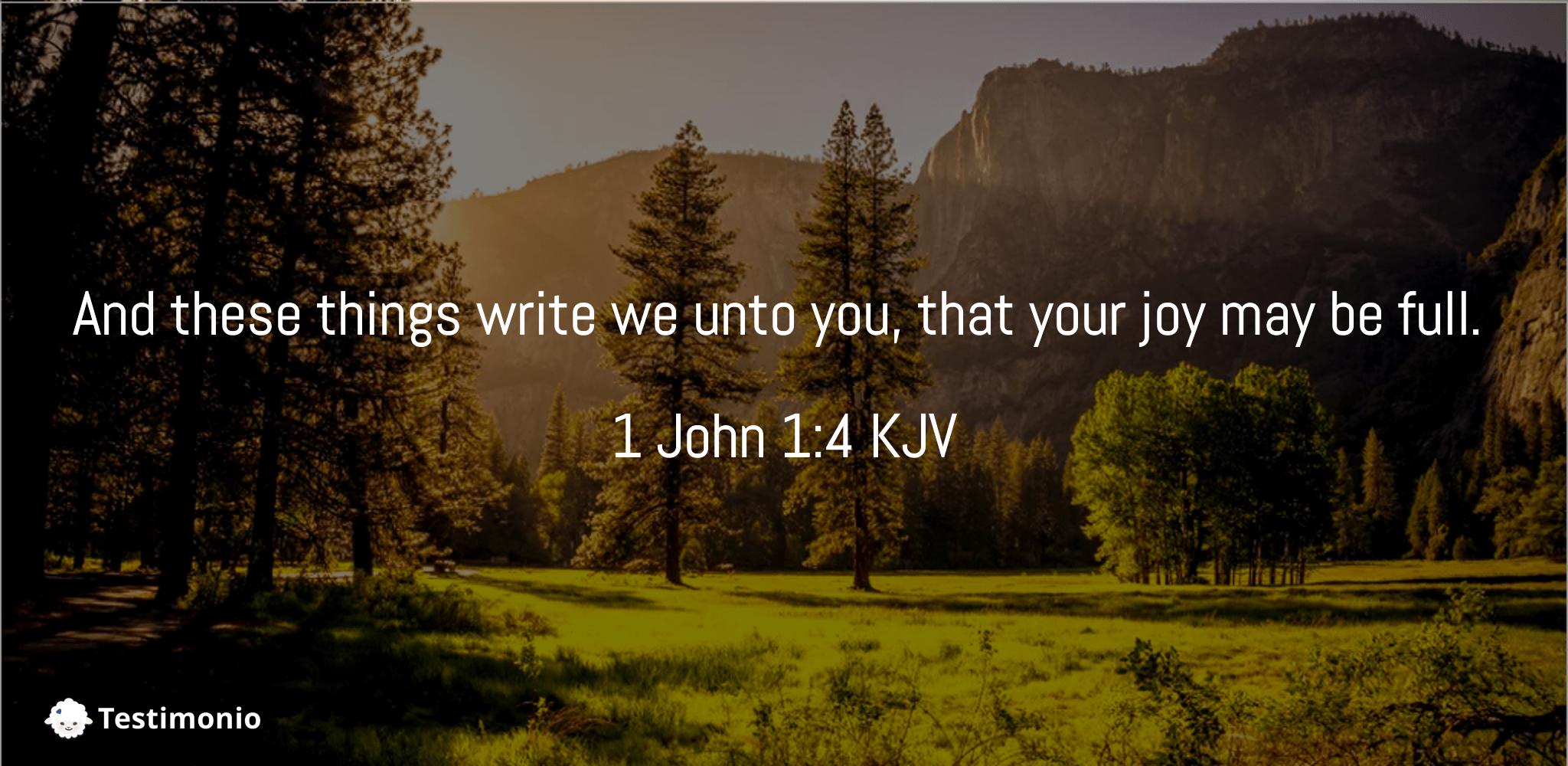 1 John 1:4