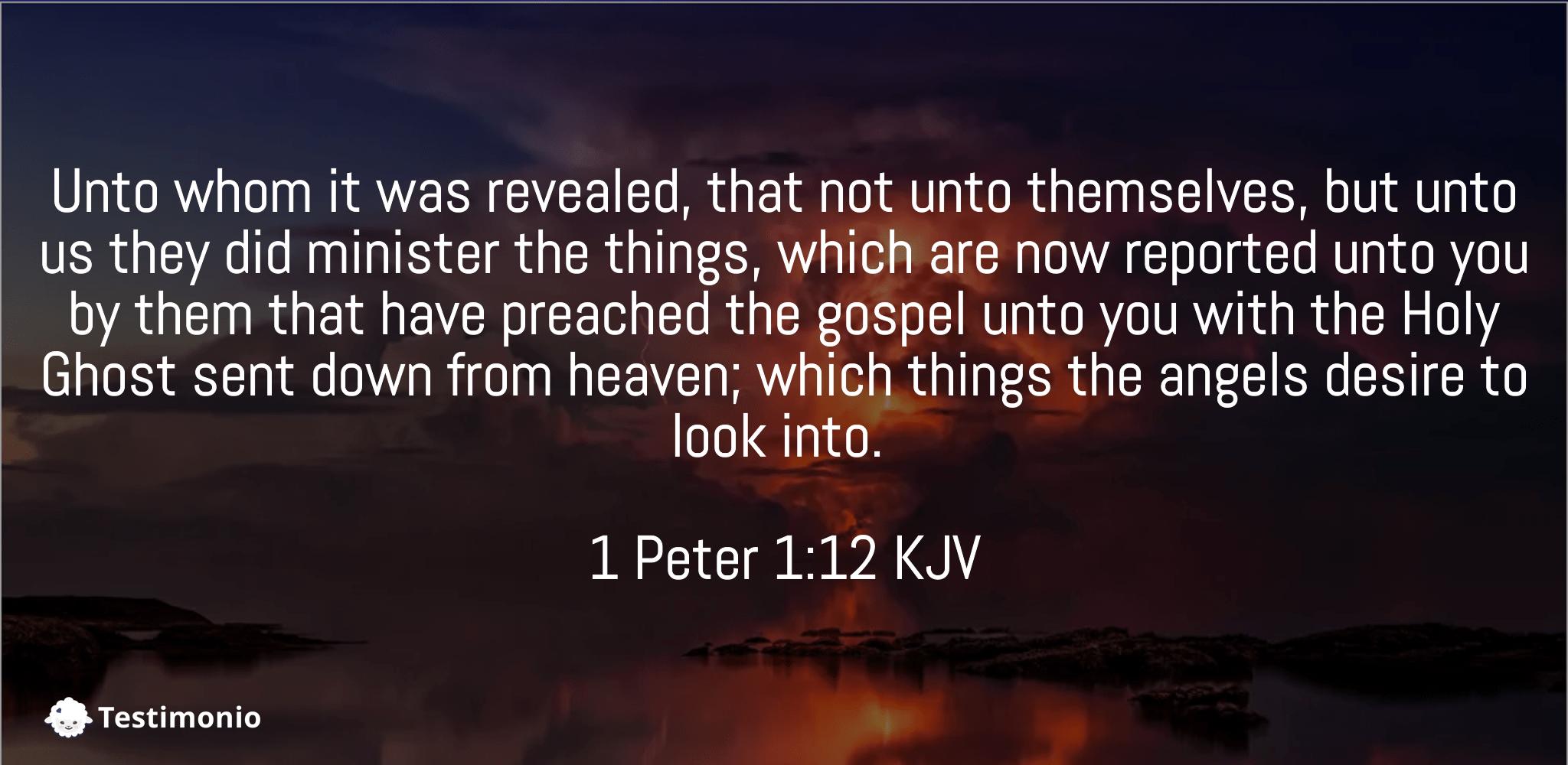1 Peter 1:12