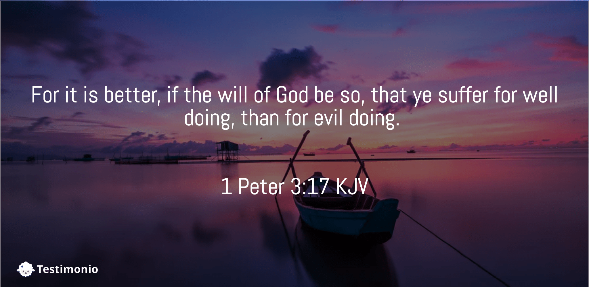 1 Peter 3:17