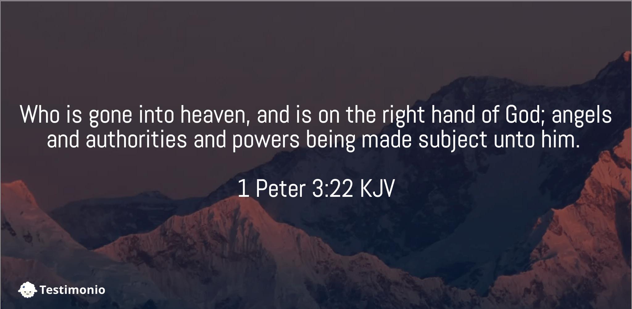 1 Peter 3:22