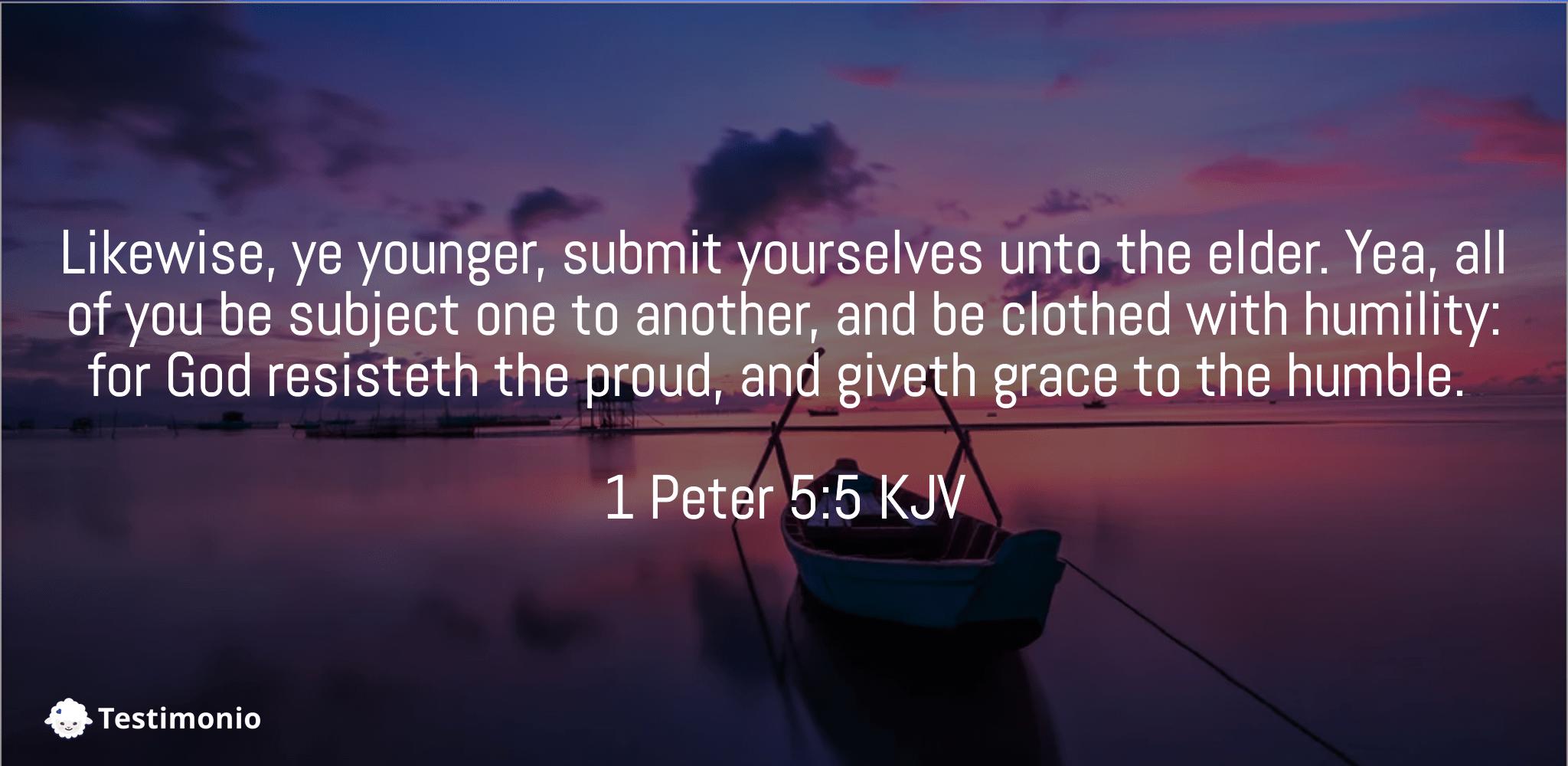 1 Peter 5:5