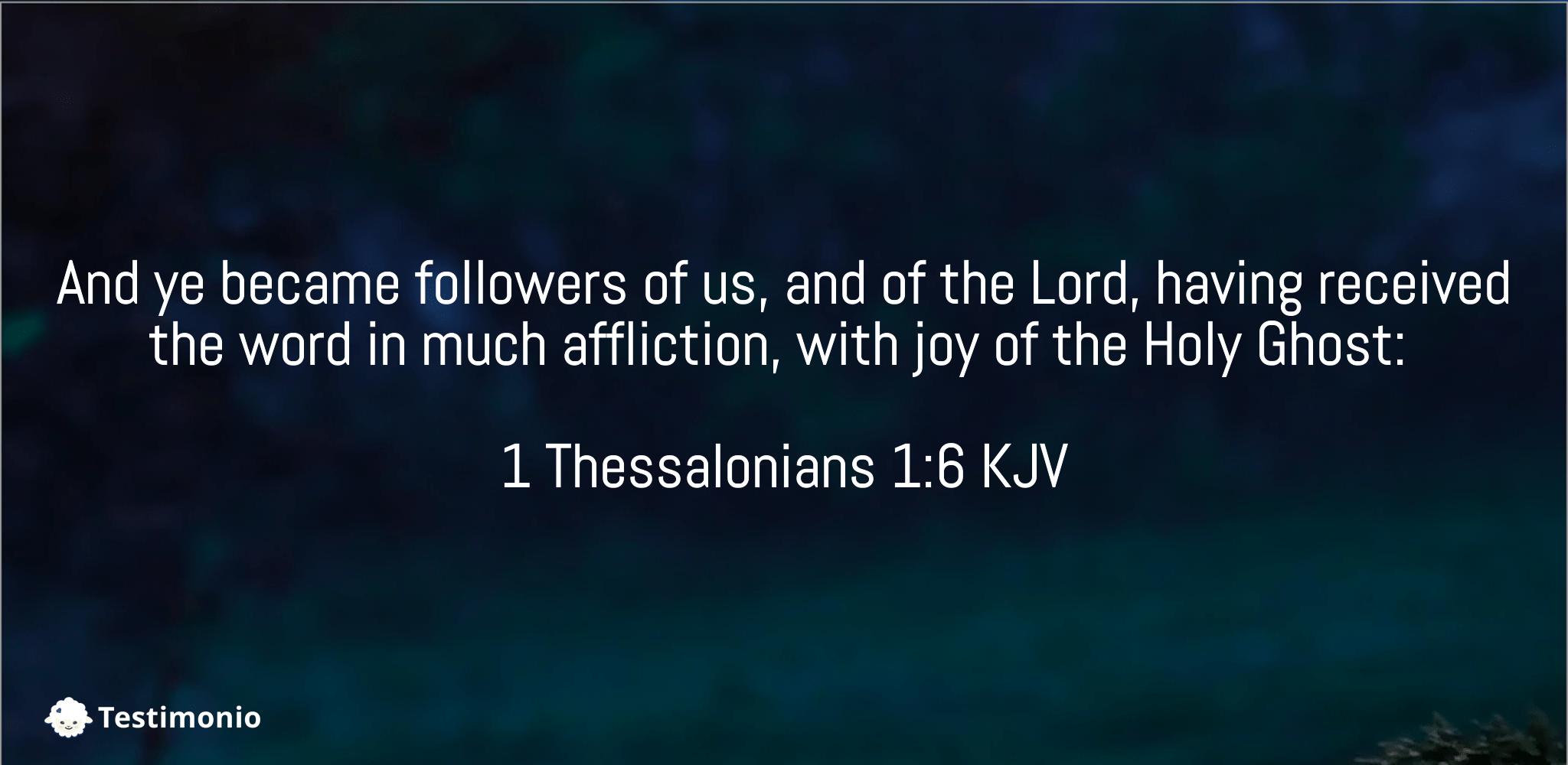 1 Thessalonians 1:6