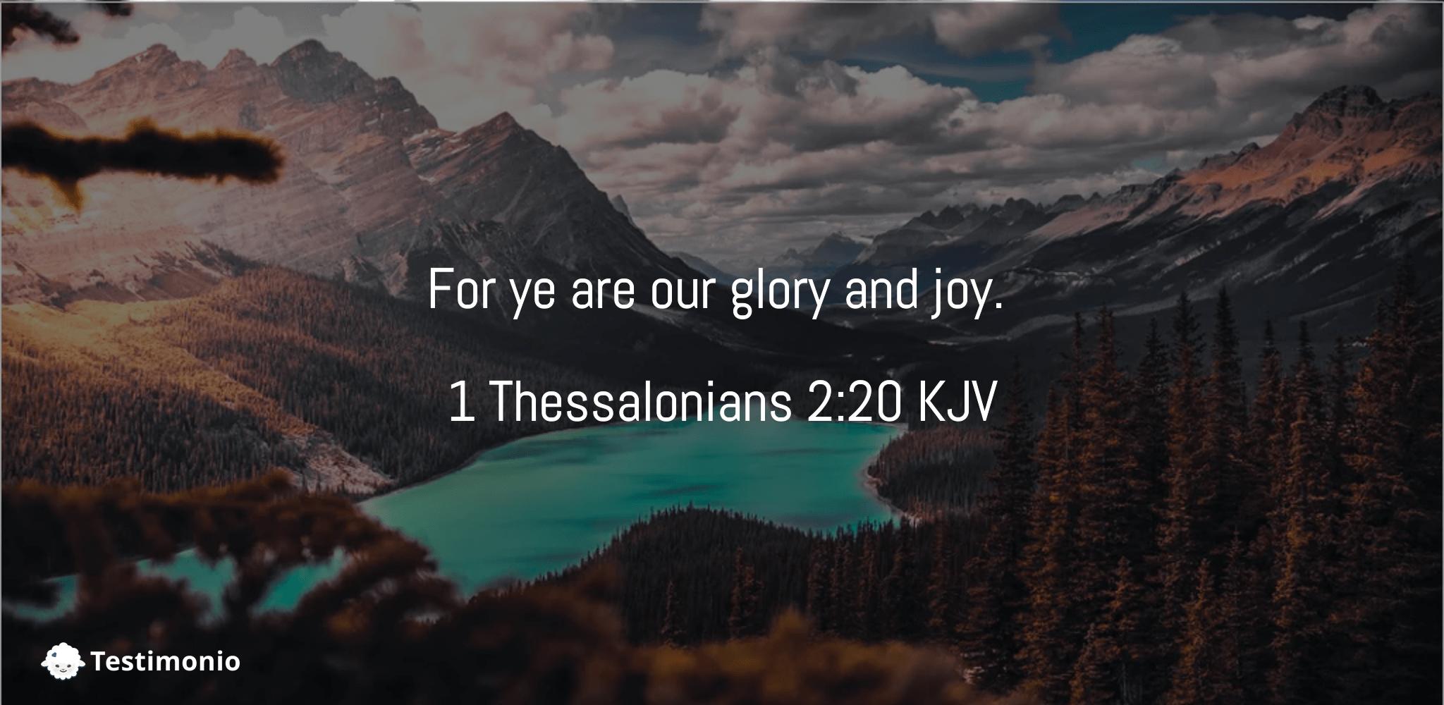 1 Thessalonians 2:20