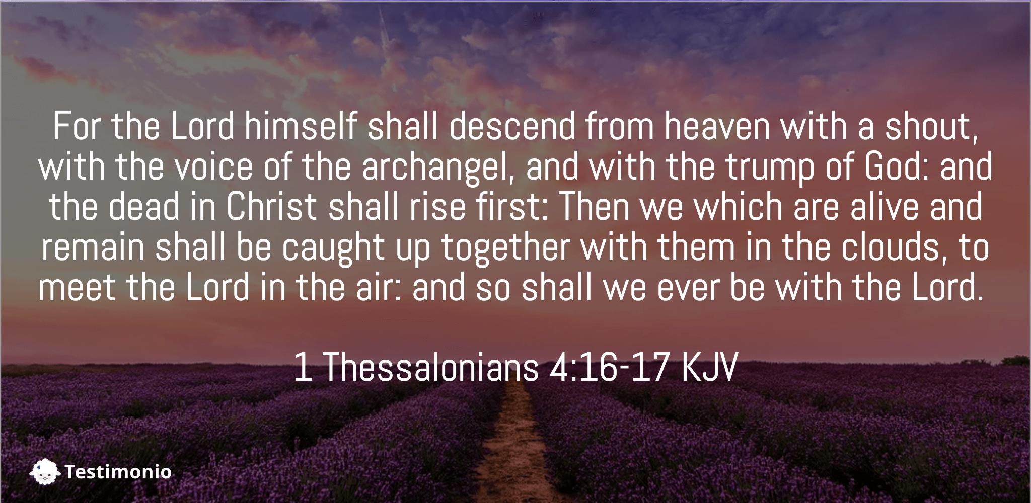 1 Thessalonians 4:16-17