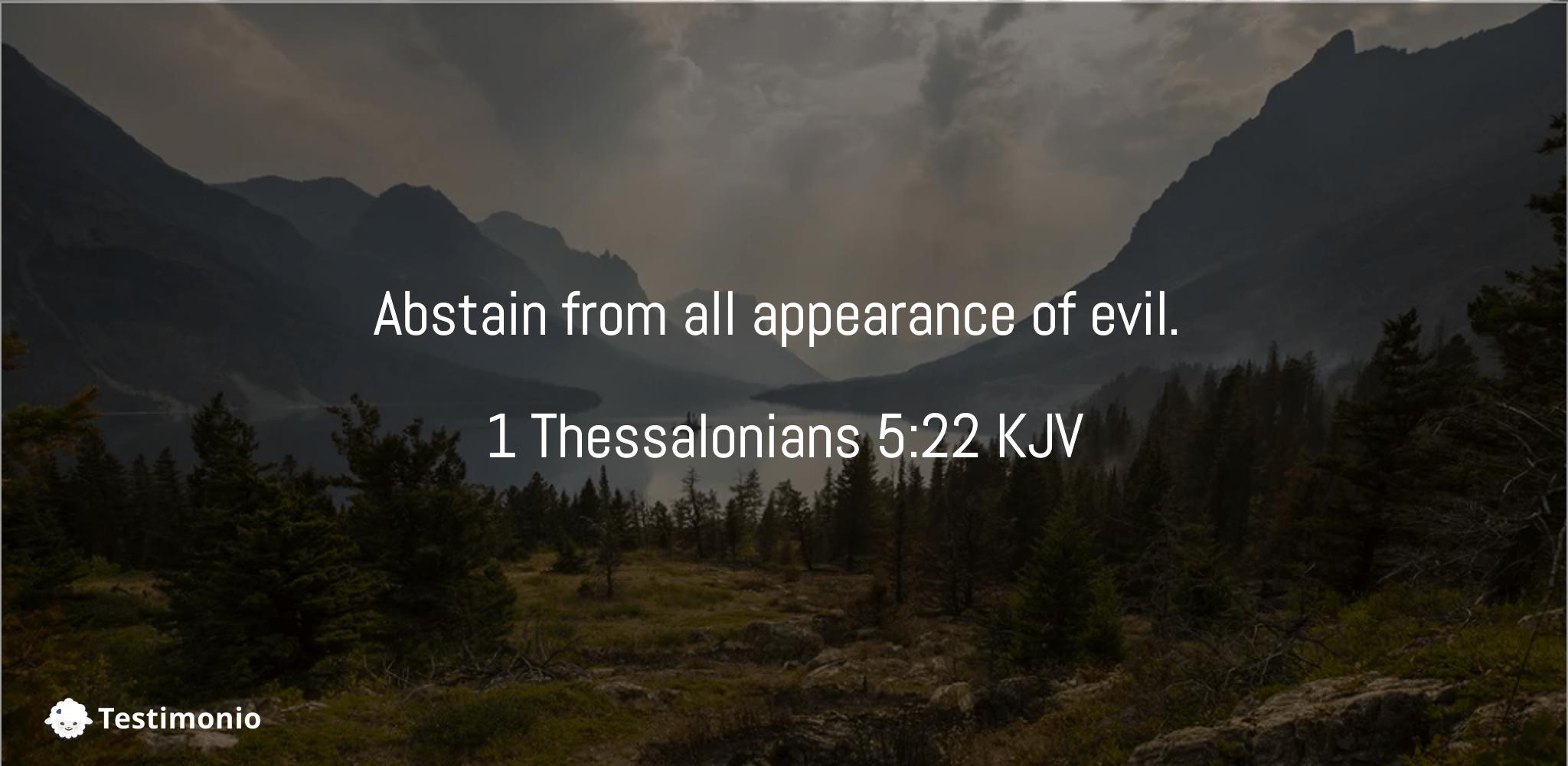1 Thessalonians 5:22