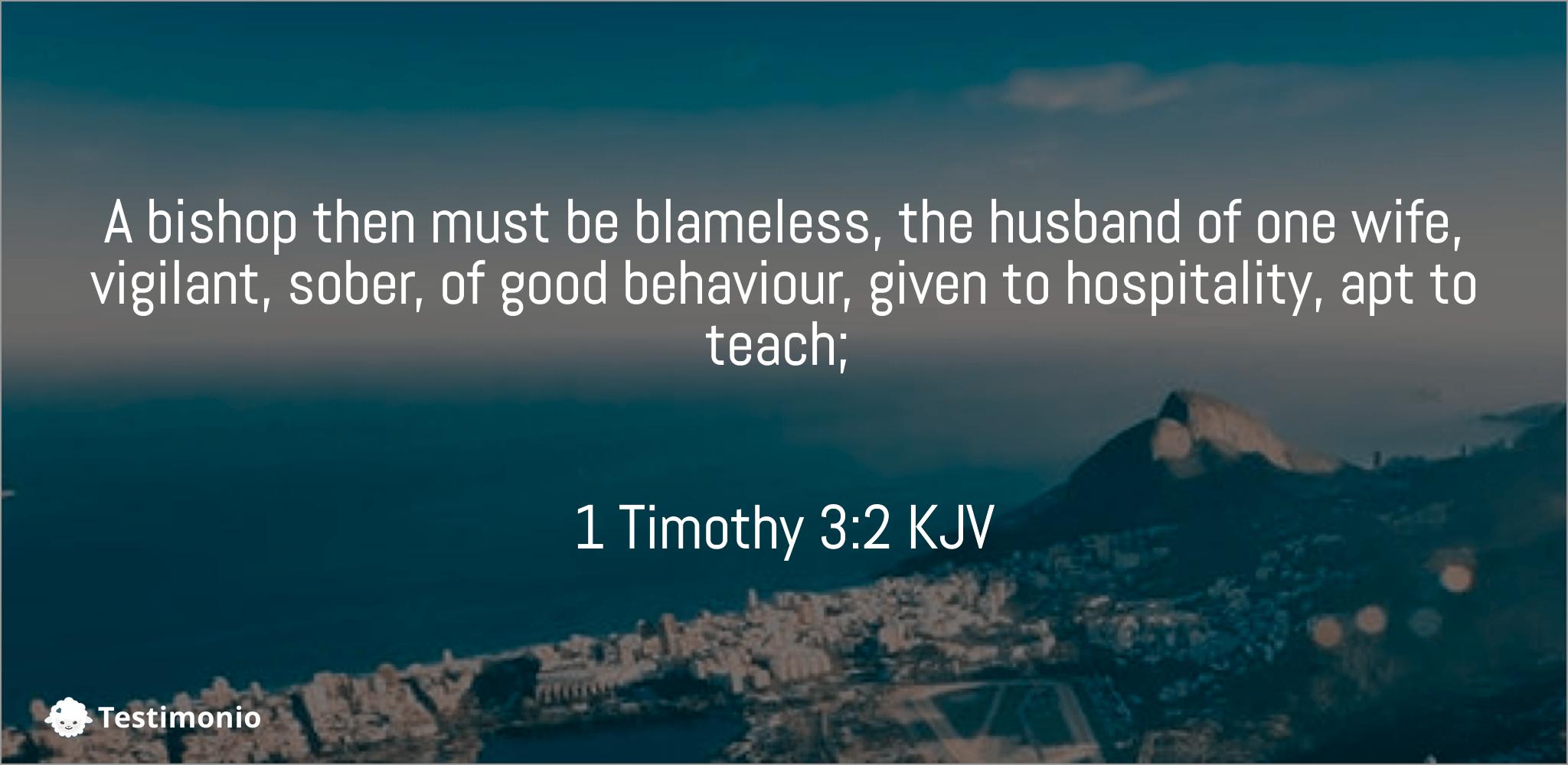 1 Timothy 3:2