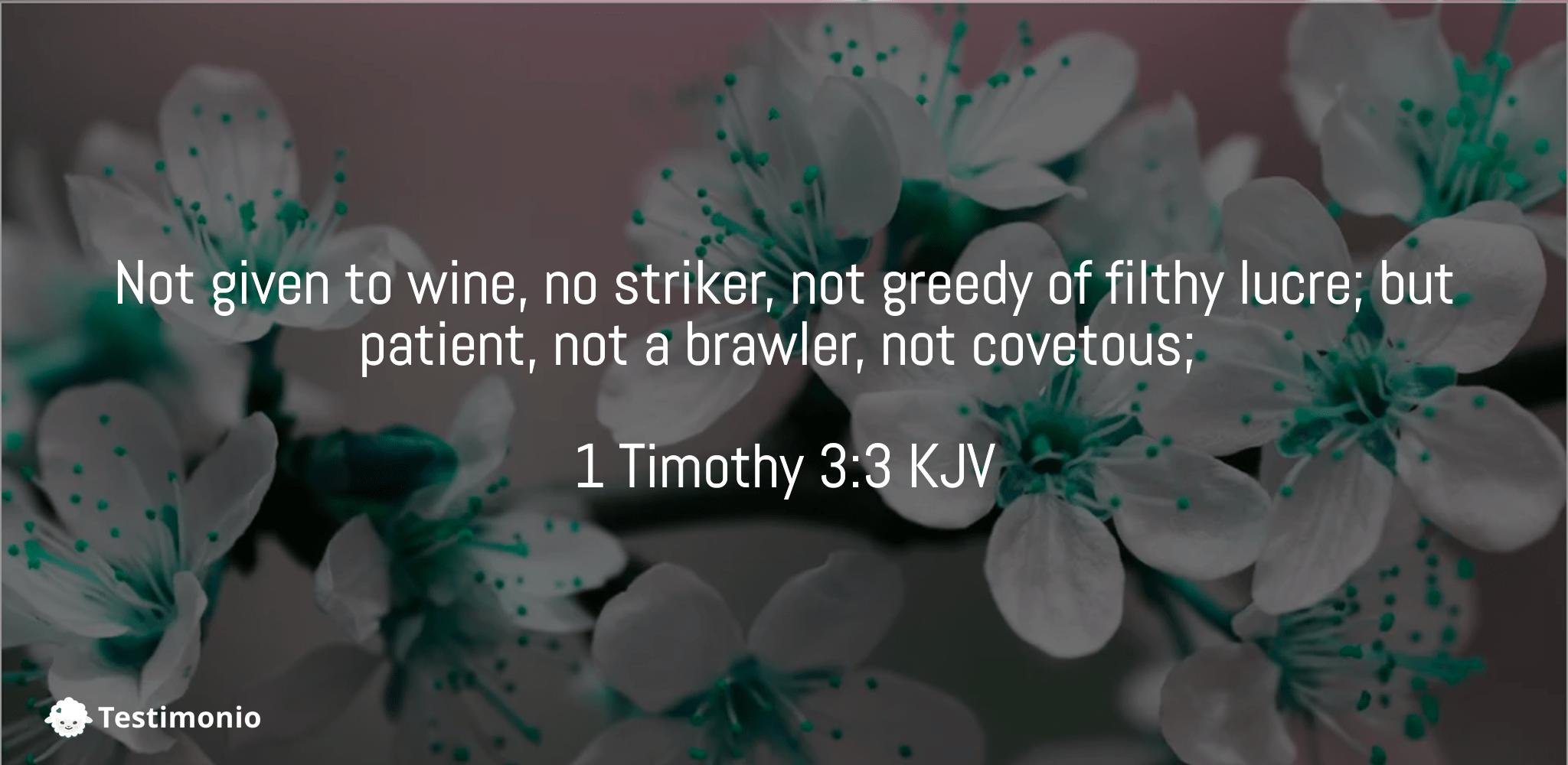 1 Timothy 3:3