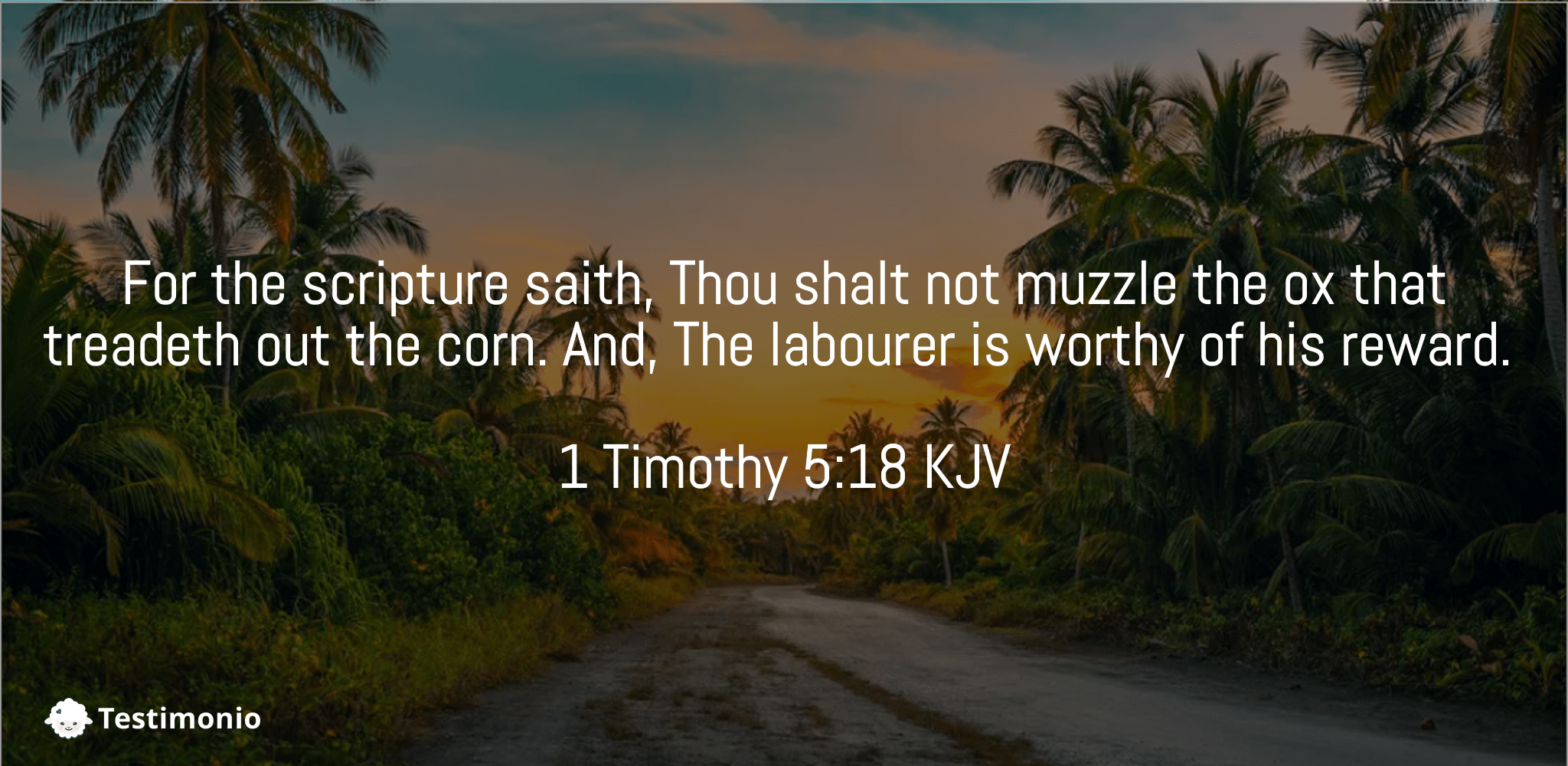 1 Timothy 5:18