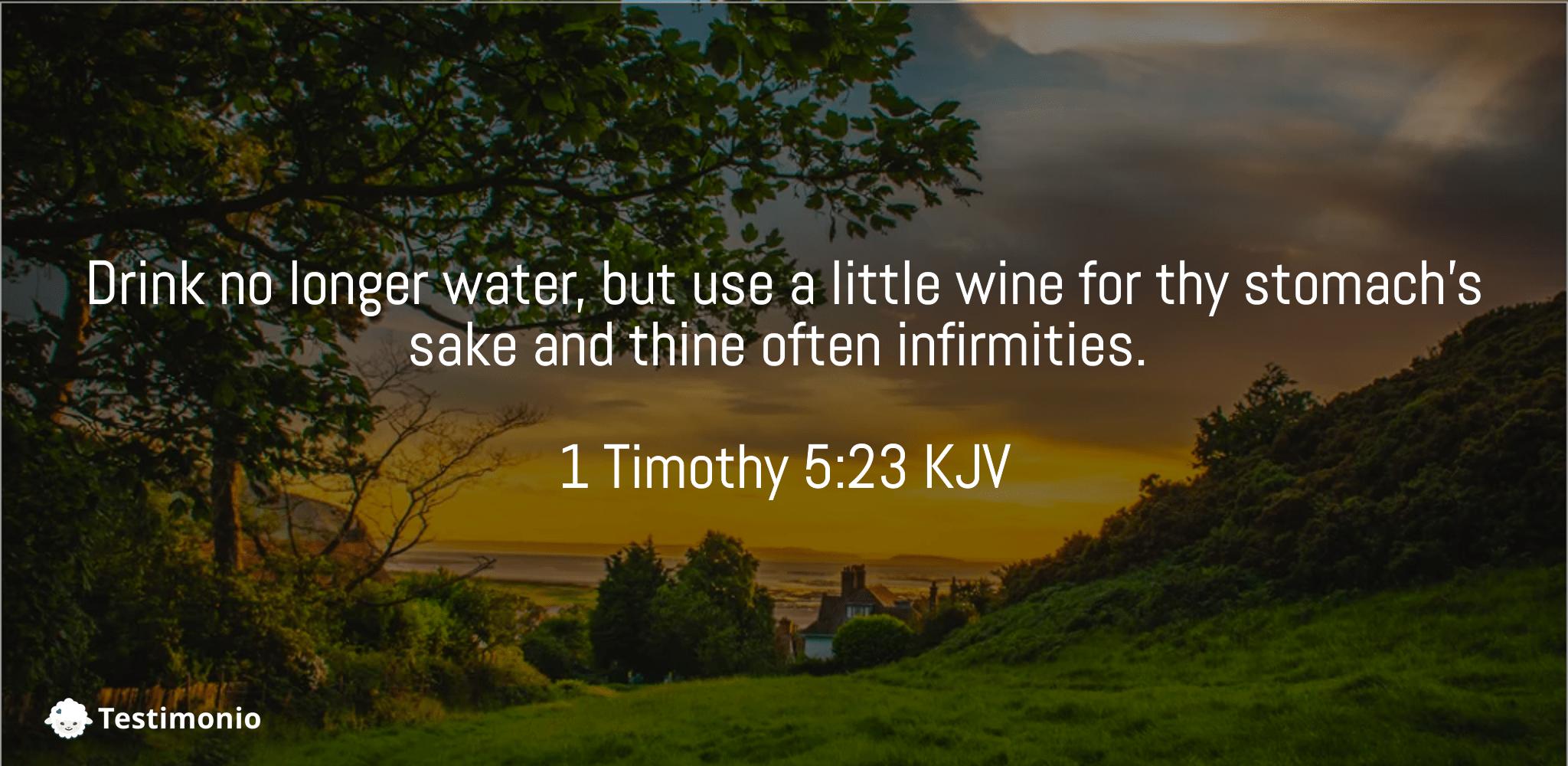 1 Timothy 5:23