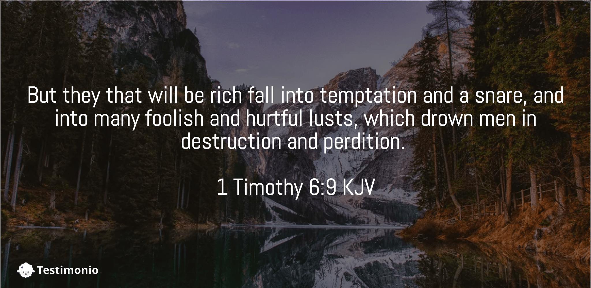 1 Timothy 6:9