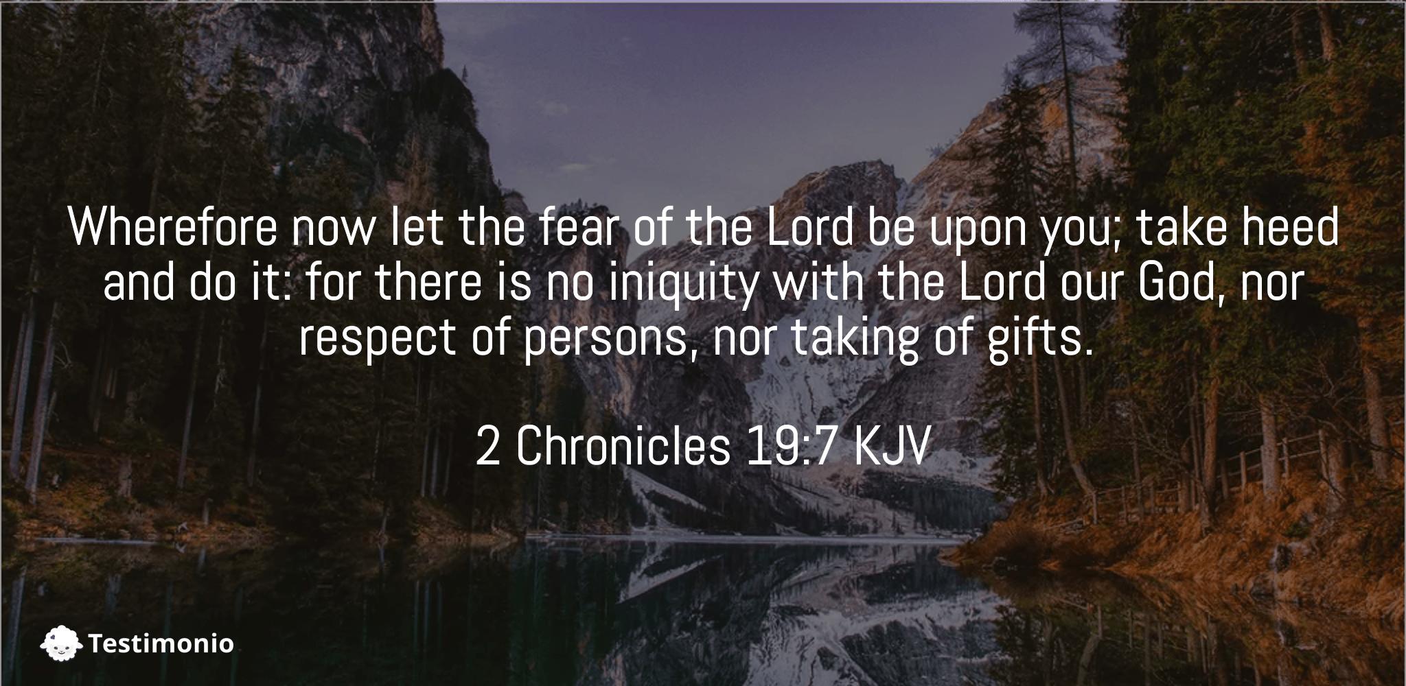 2 Chronicles 19:7