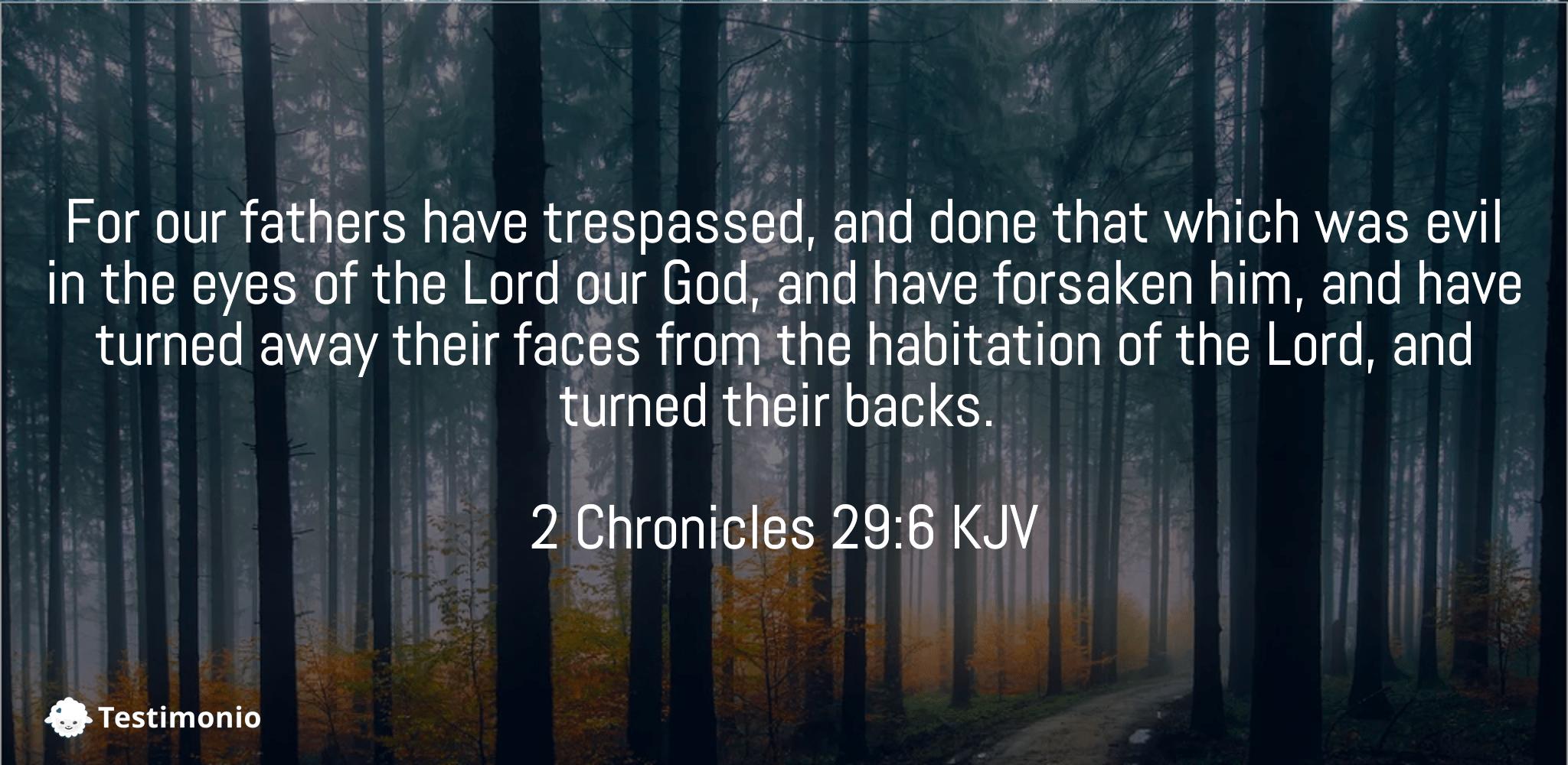2 Chronicles 29:6