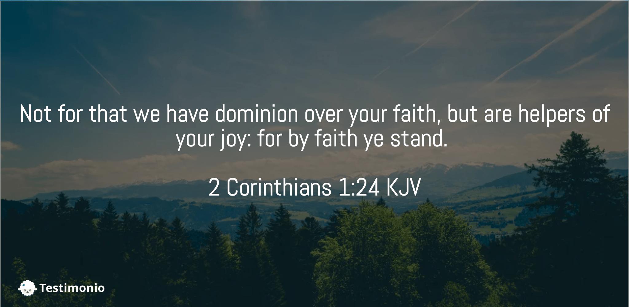 2 Corinthians 1:24