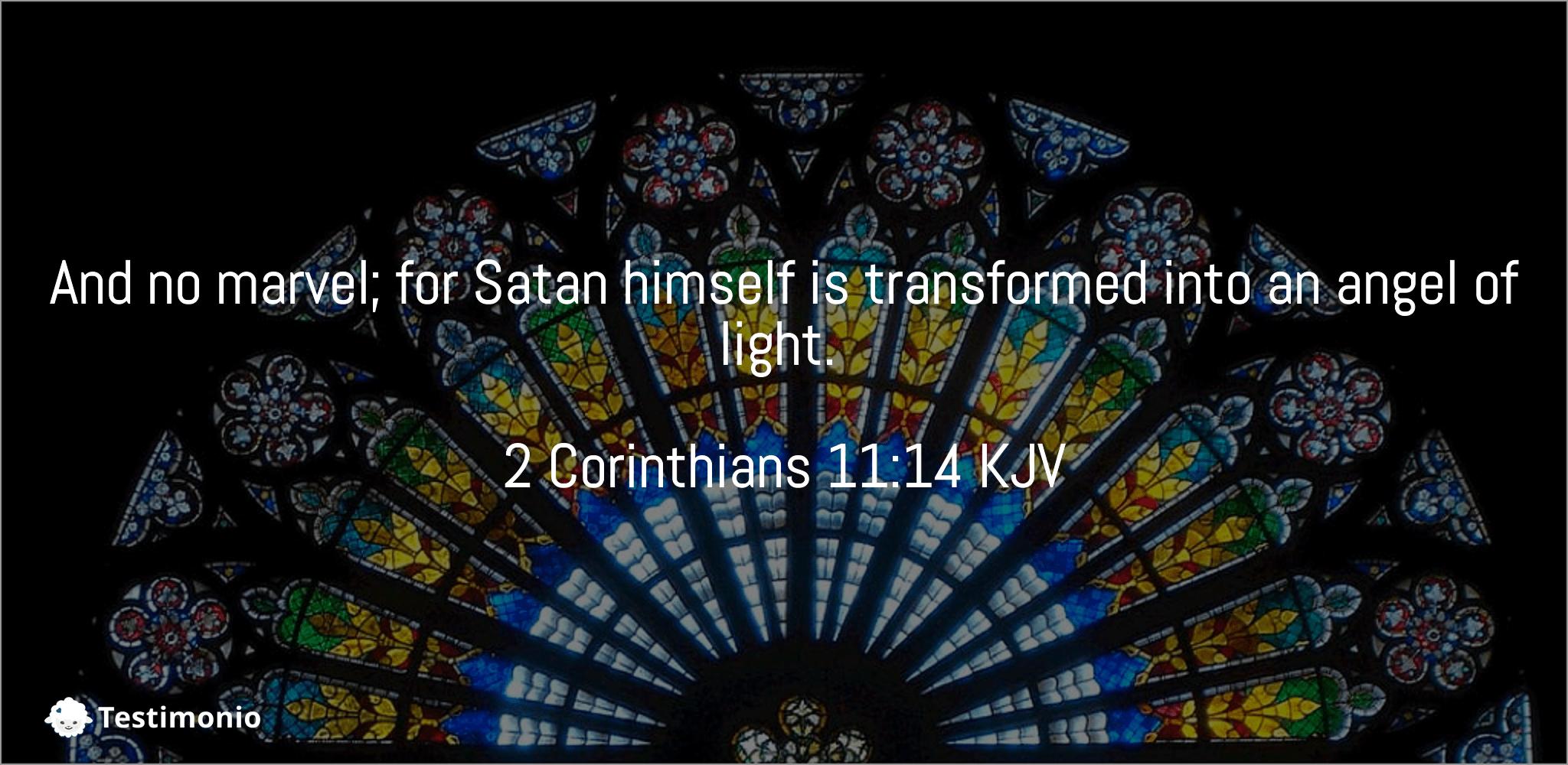 2 Corinthians 11:14