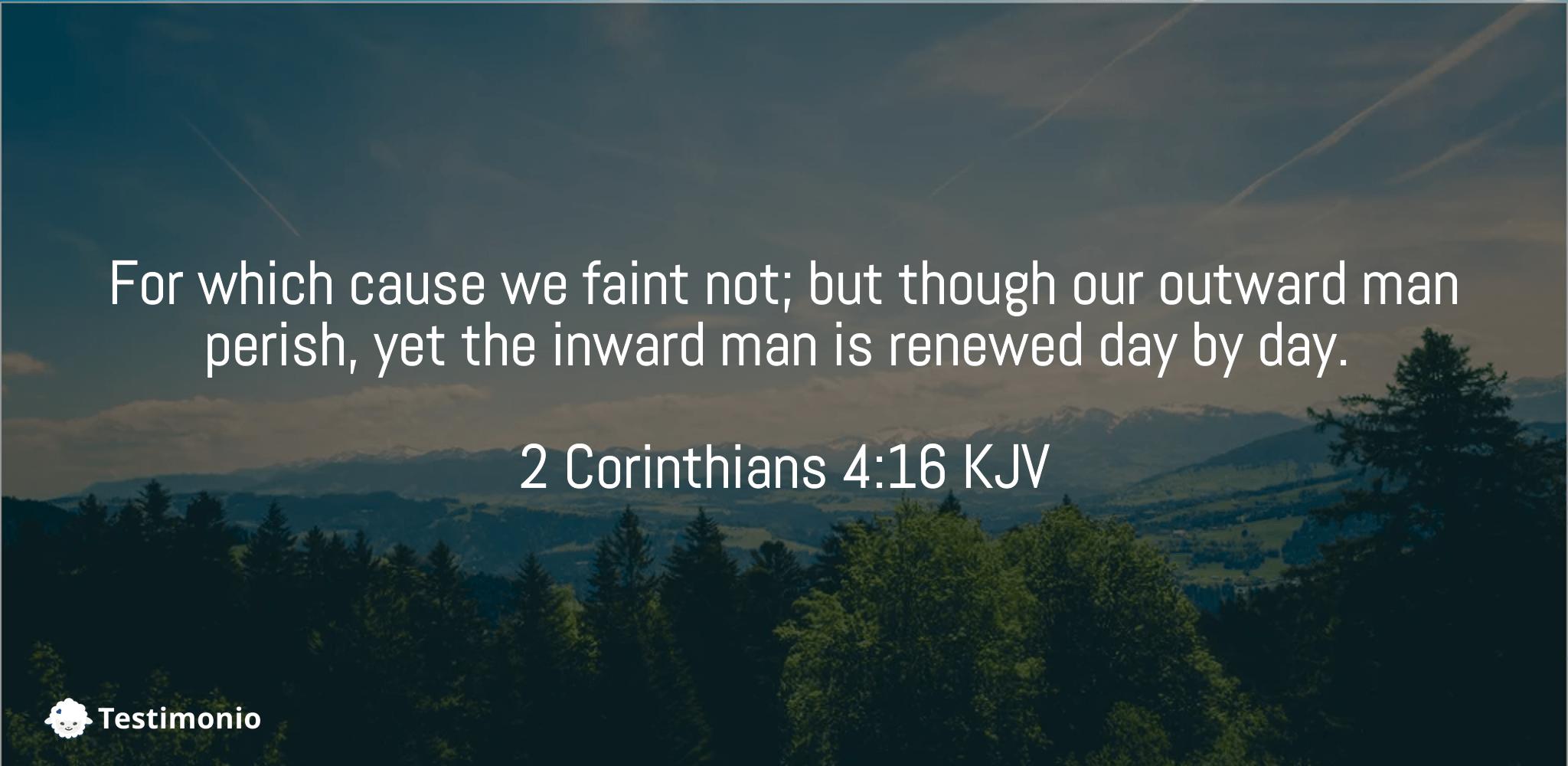 2 Corinthians 4:16