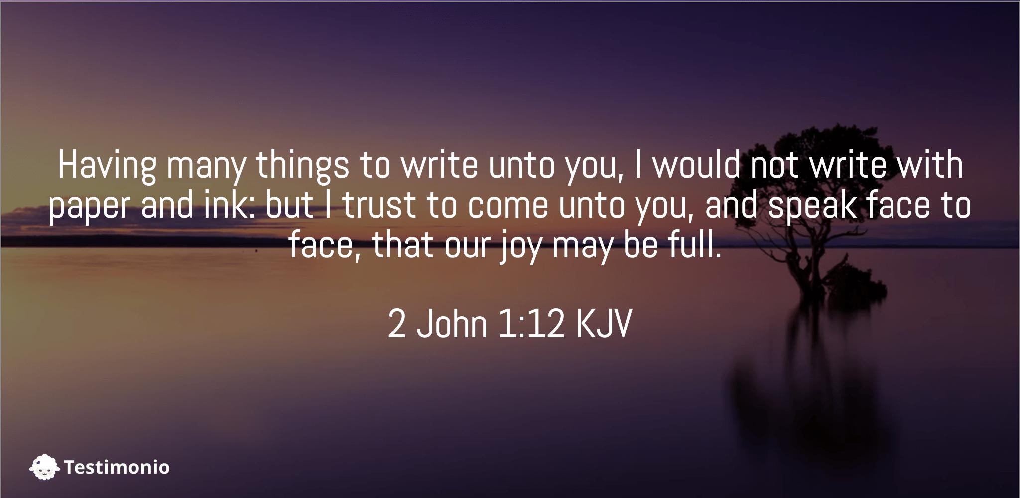 2 John 1:12