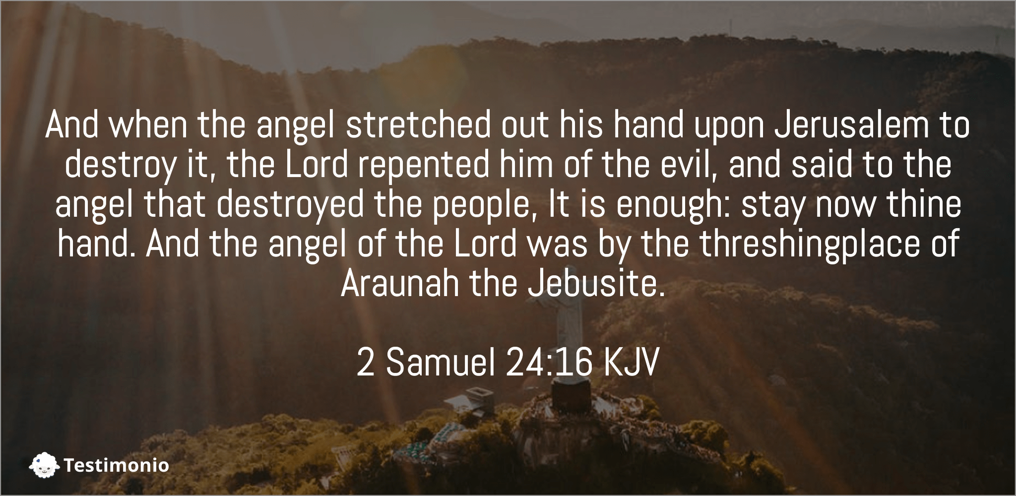 2 Samuel 24:16