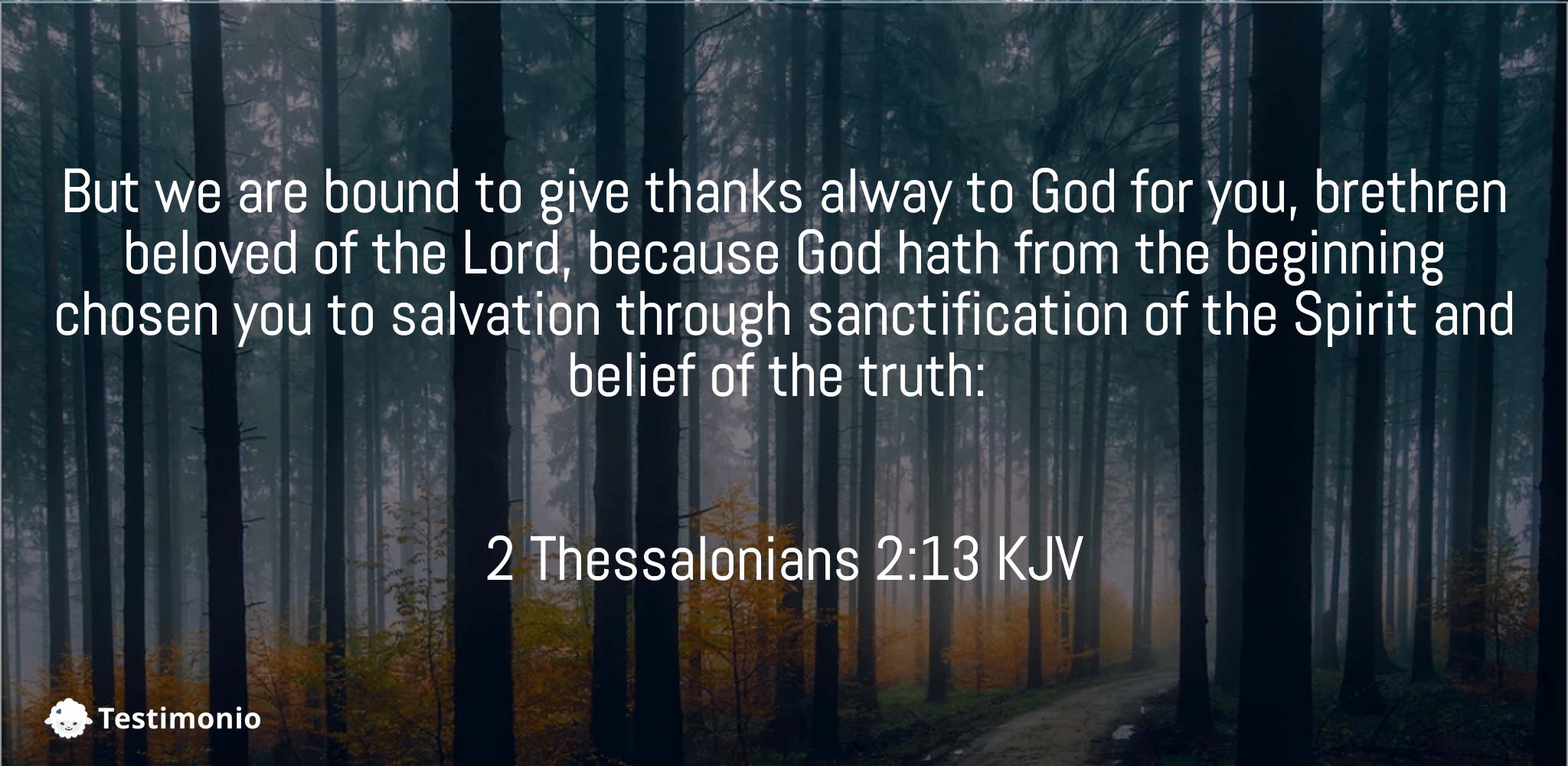 2 Thessalonians 2:13