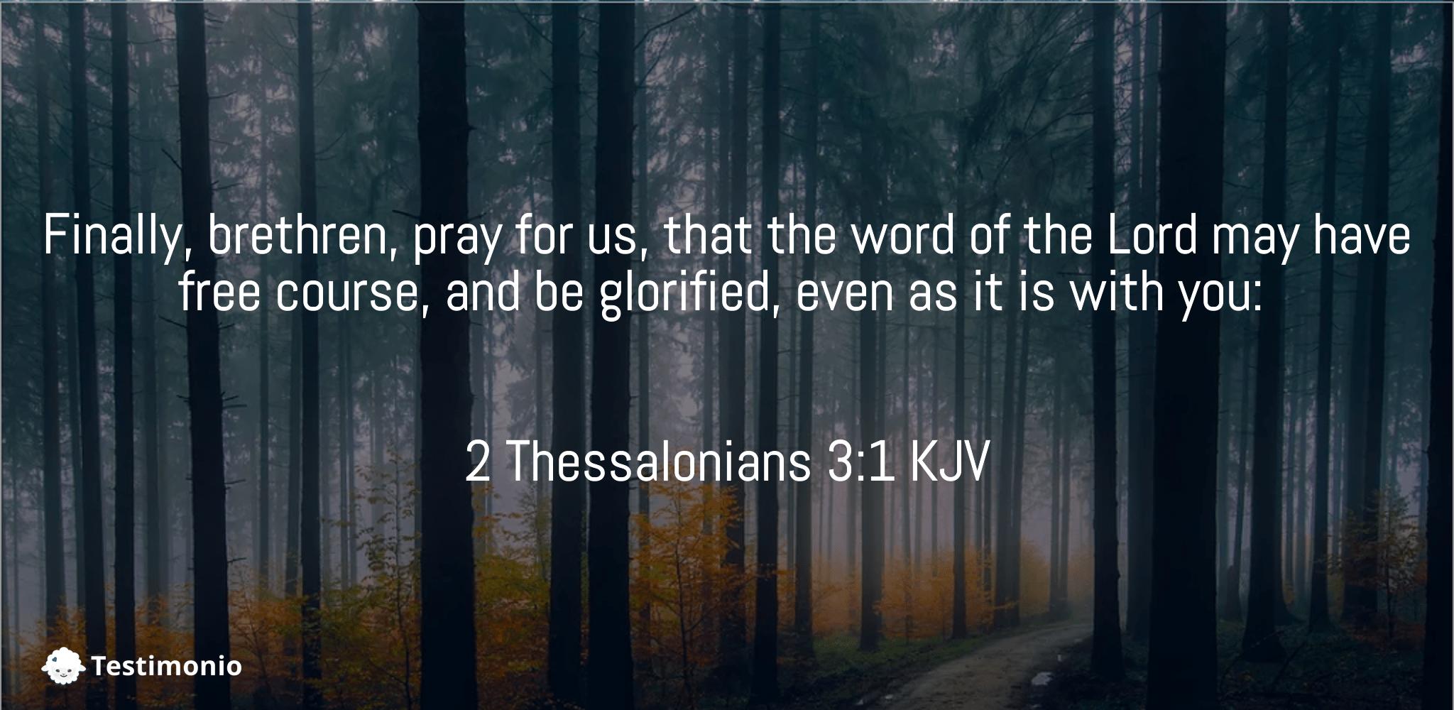 2 Thessalonians 3:1