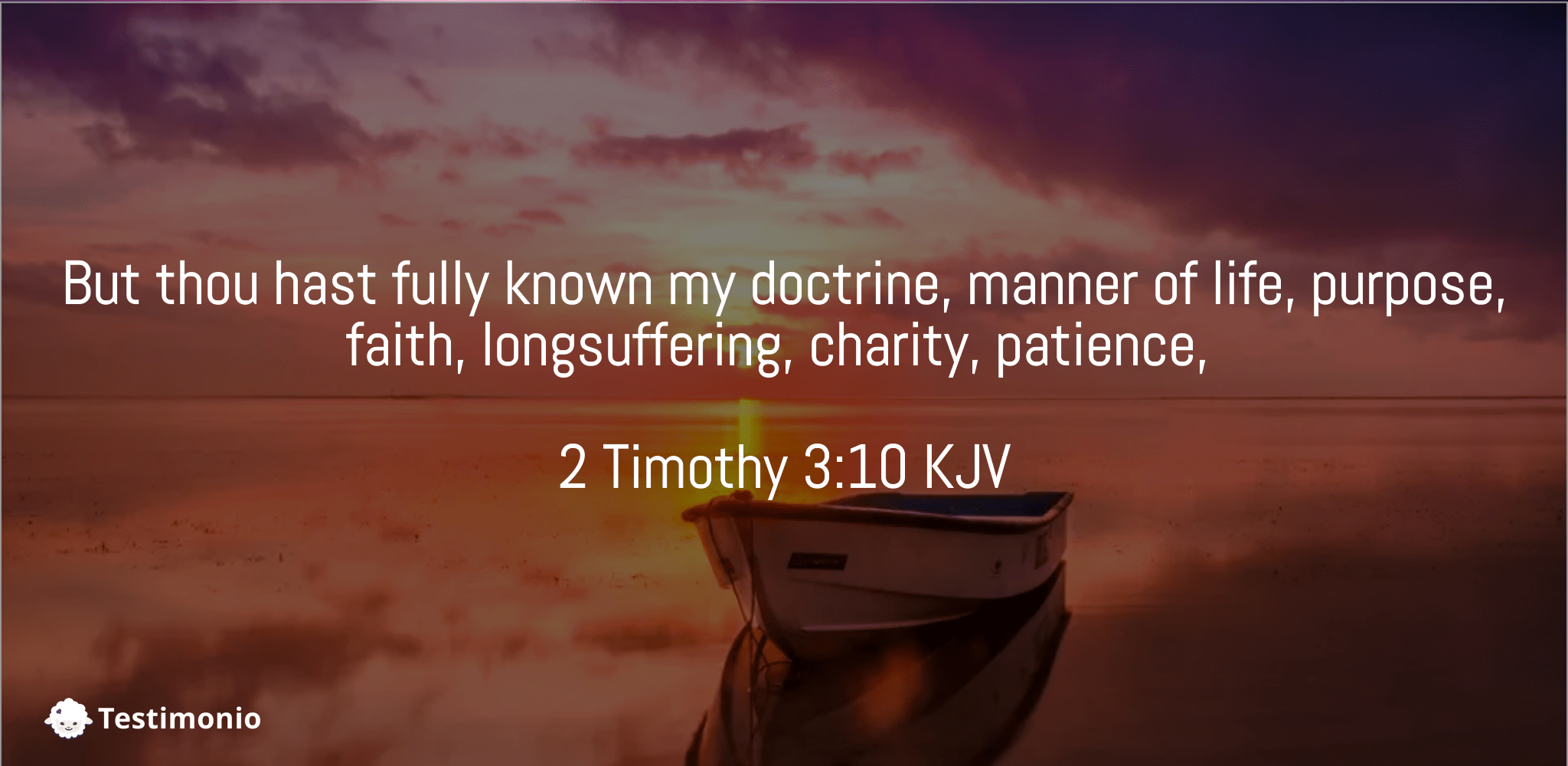 2 Timothy 3:10
