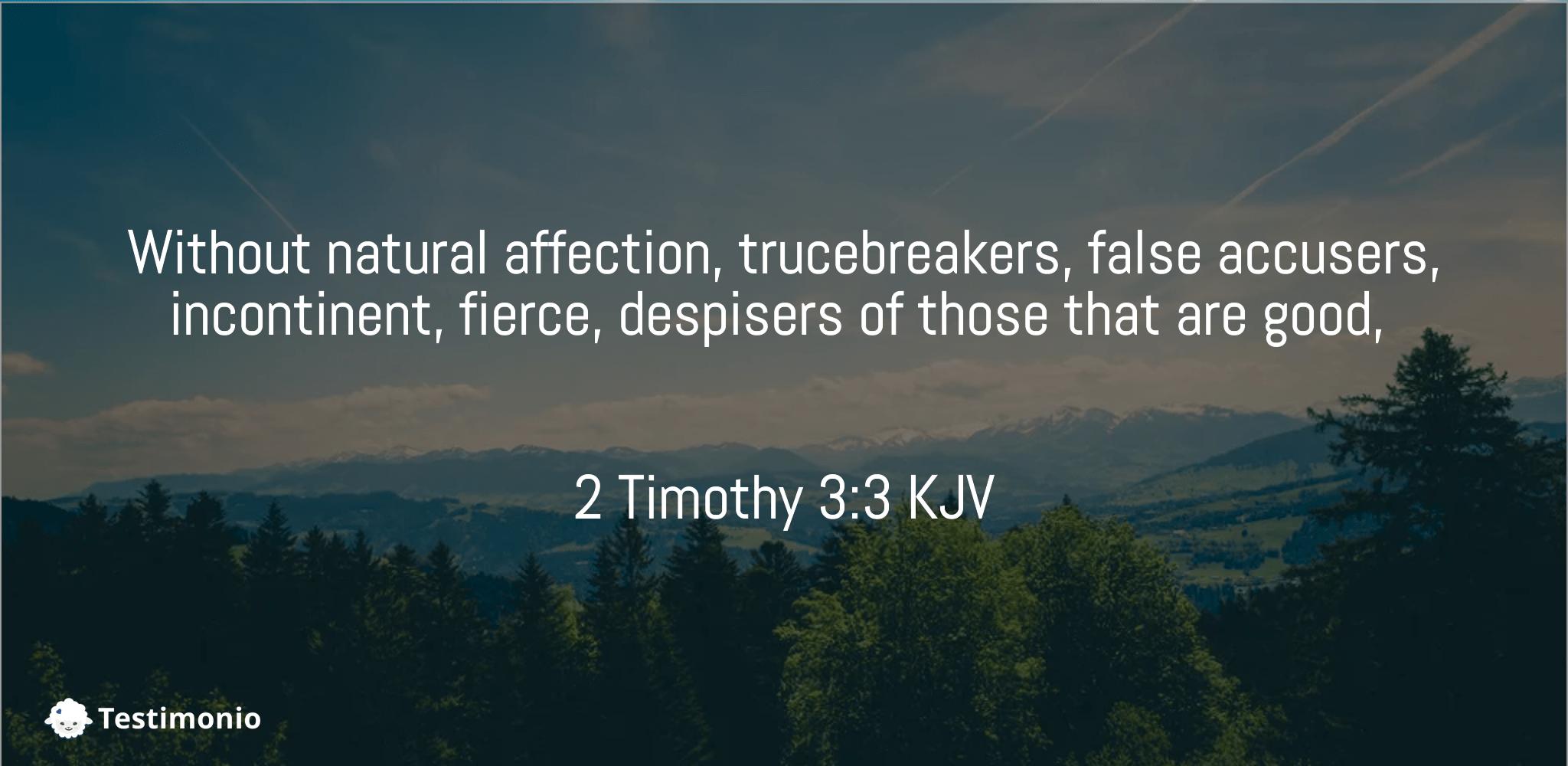 2 Timothy 3:3