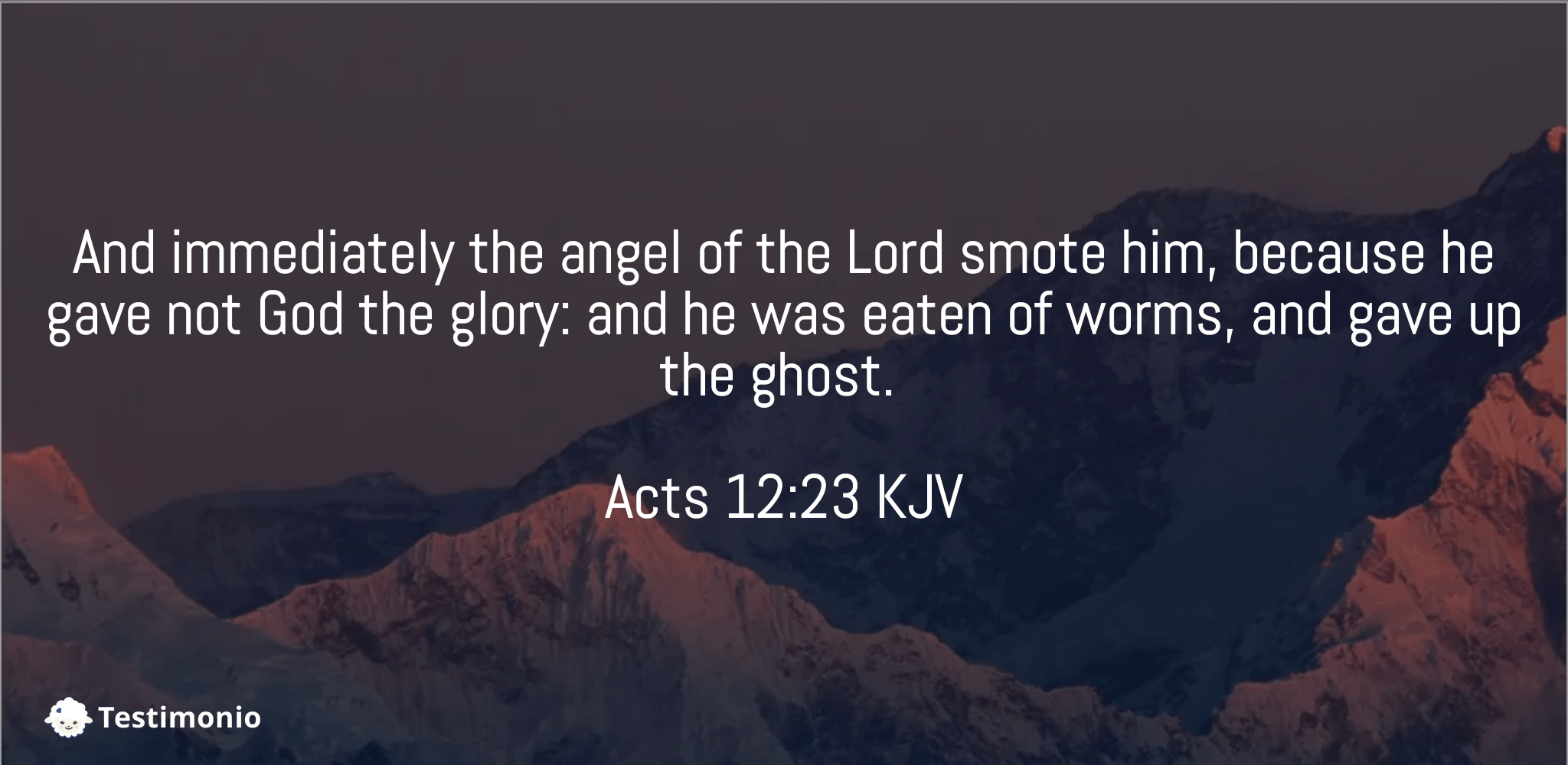 Acts 12:23
