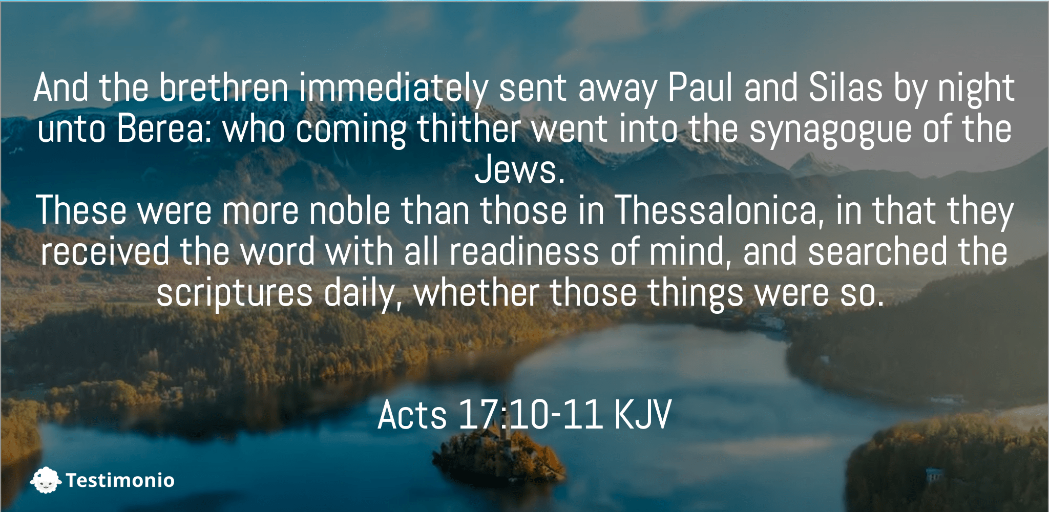 Acts 17:10-11