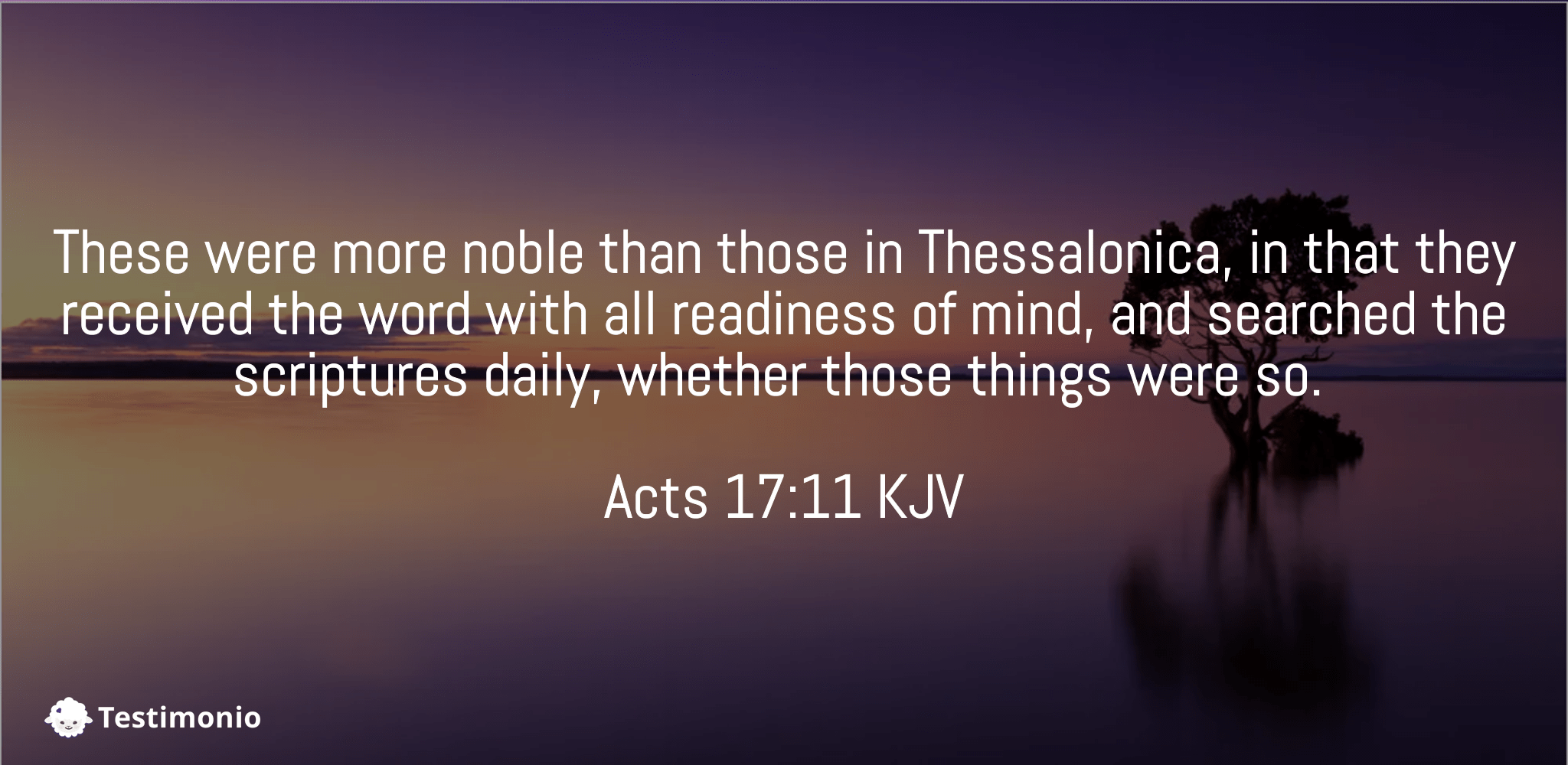 Acts 17:11