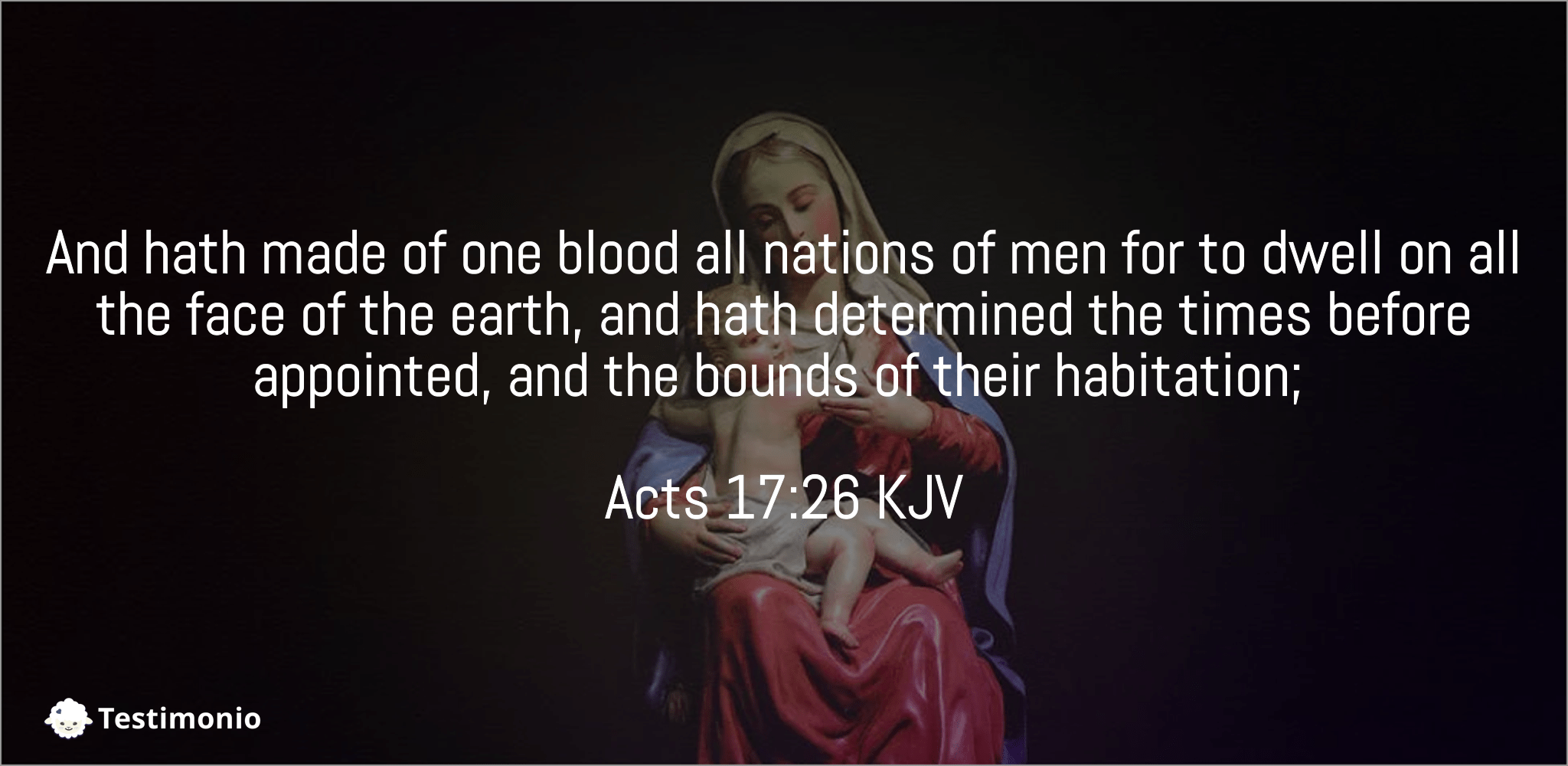 Acts 17:26