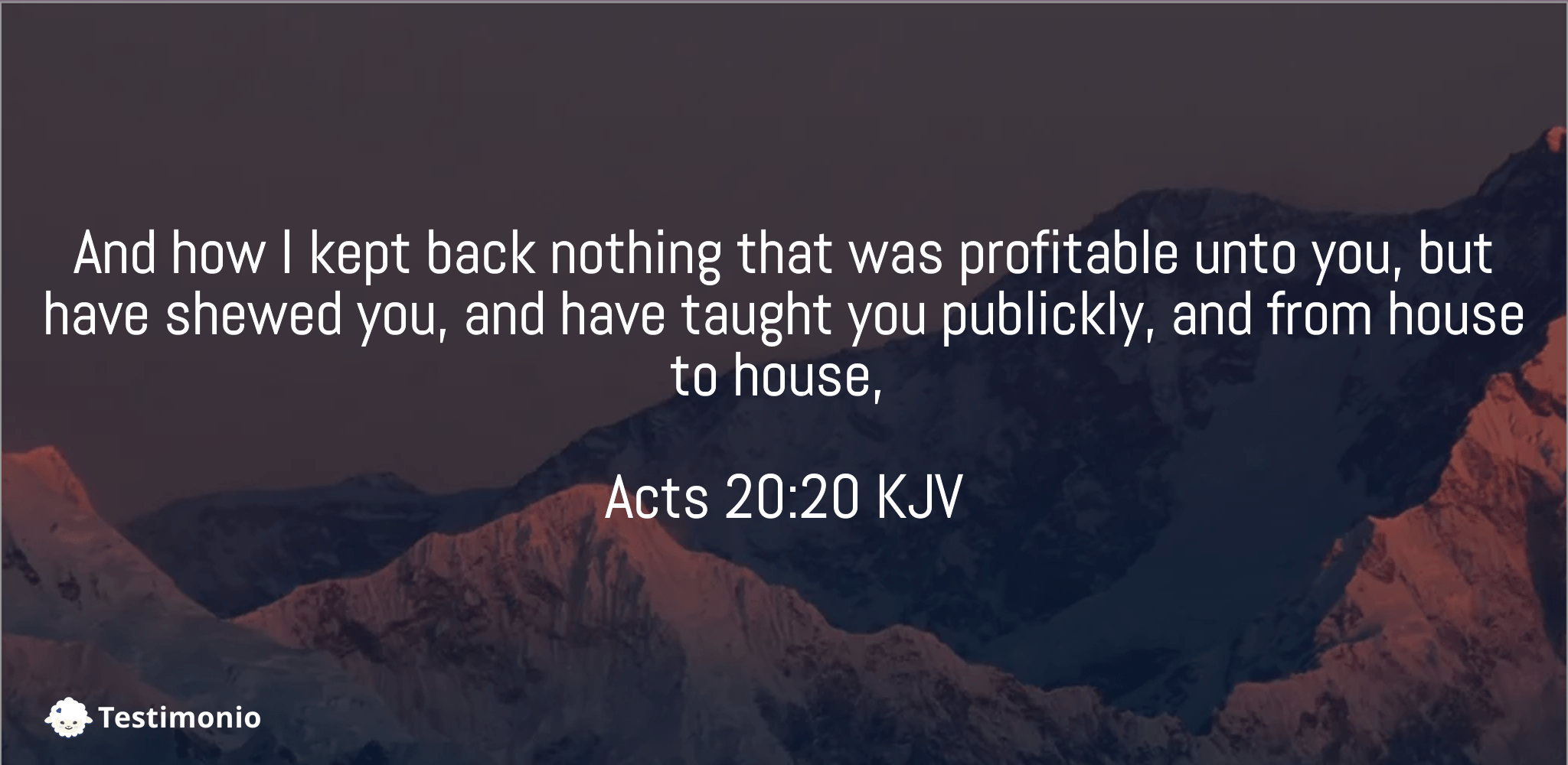 Acts 20:20