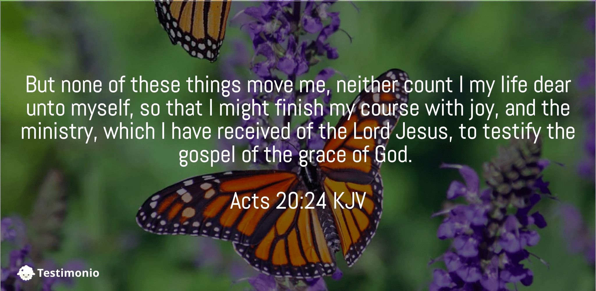 Acts 20:24