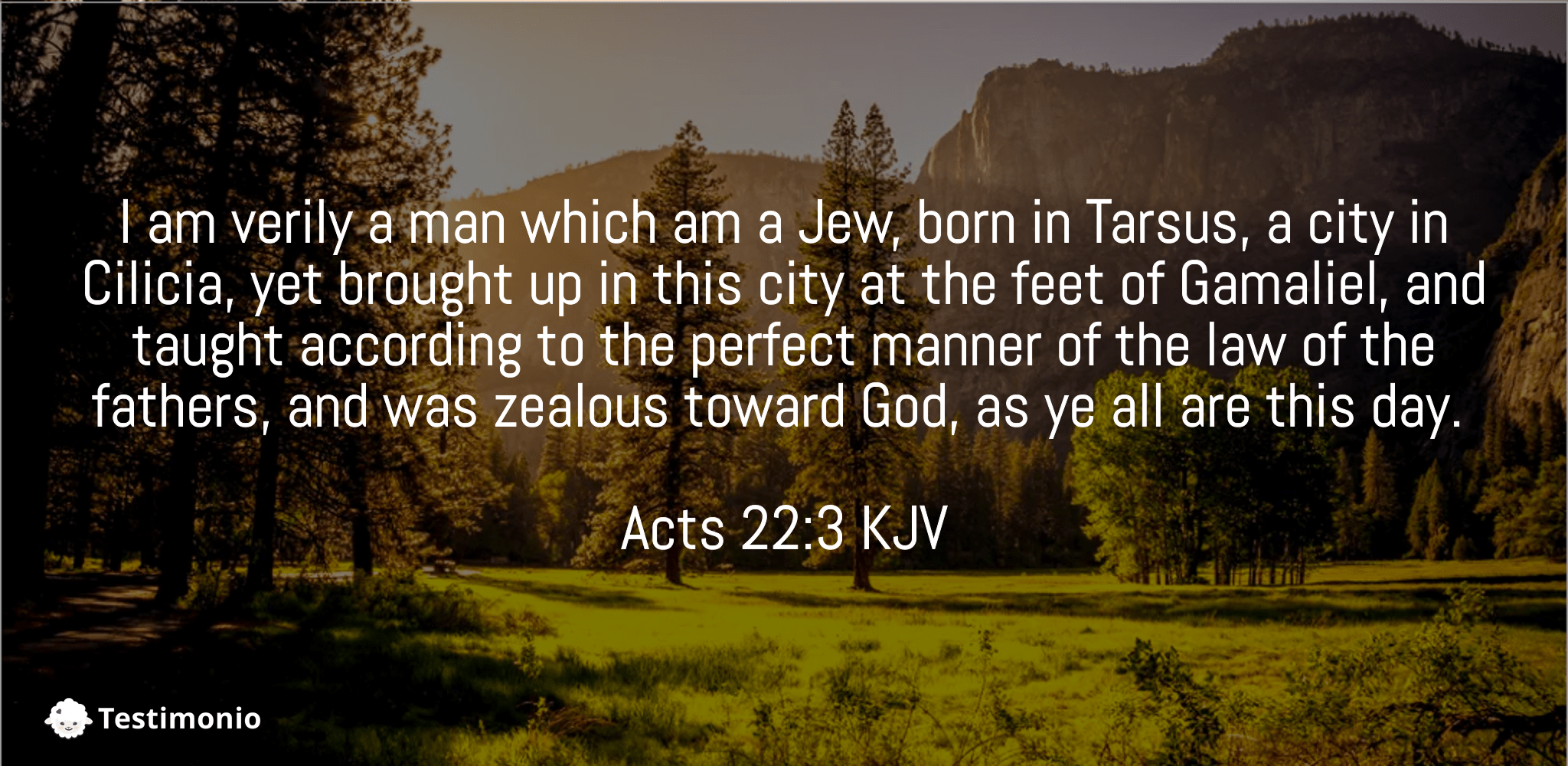 Acts 22:3