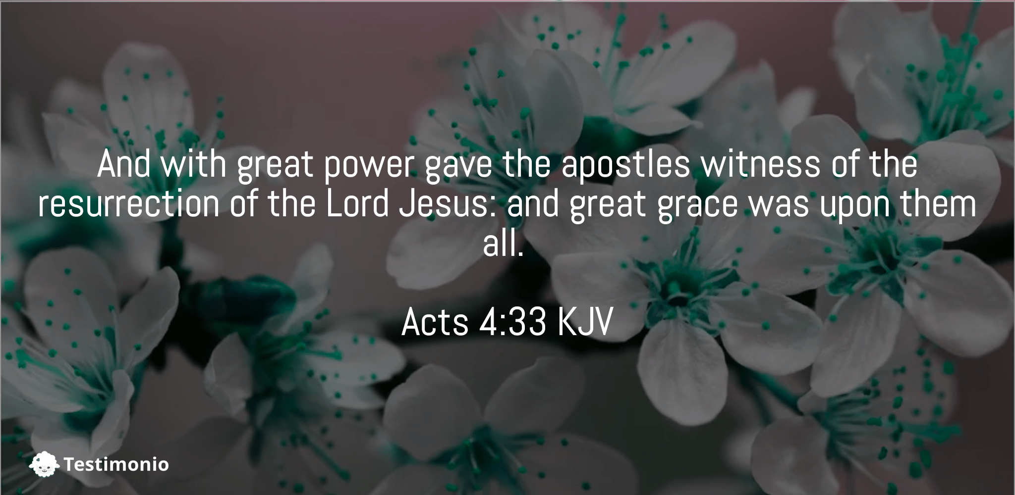 Acts 4:33
