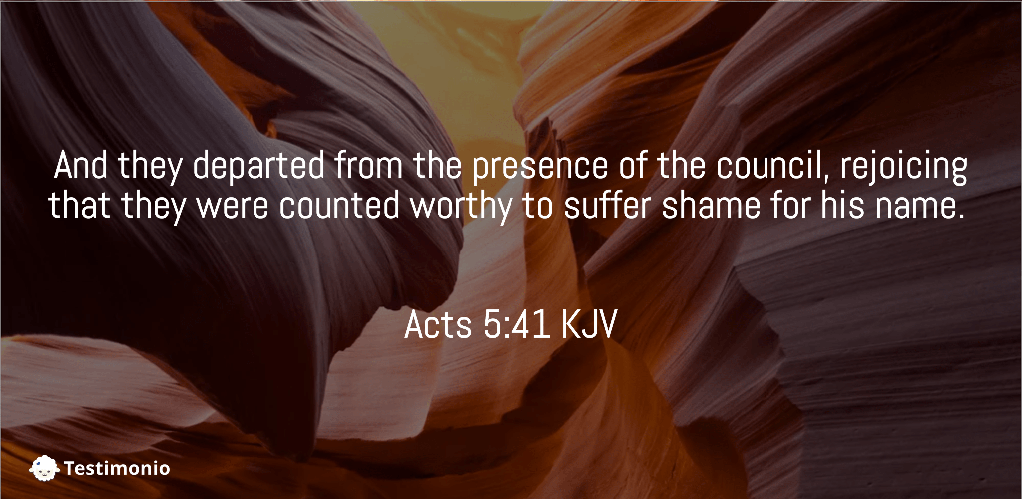 Acts 5:41