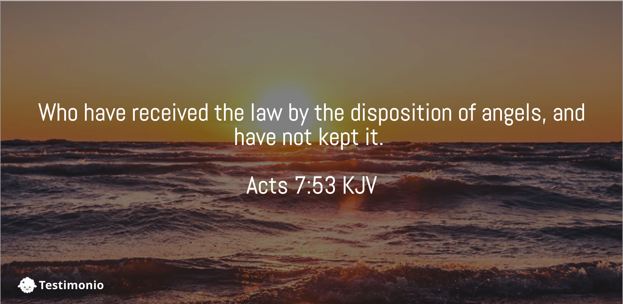 Acts 7:53