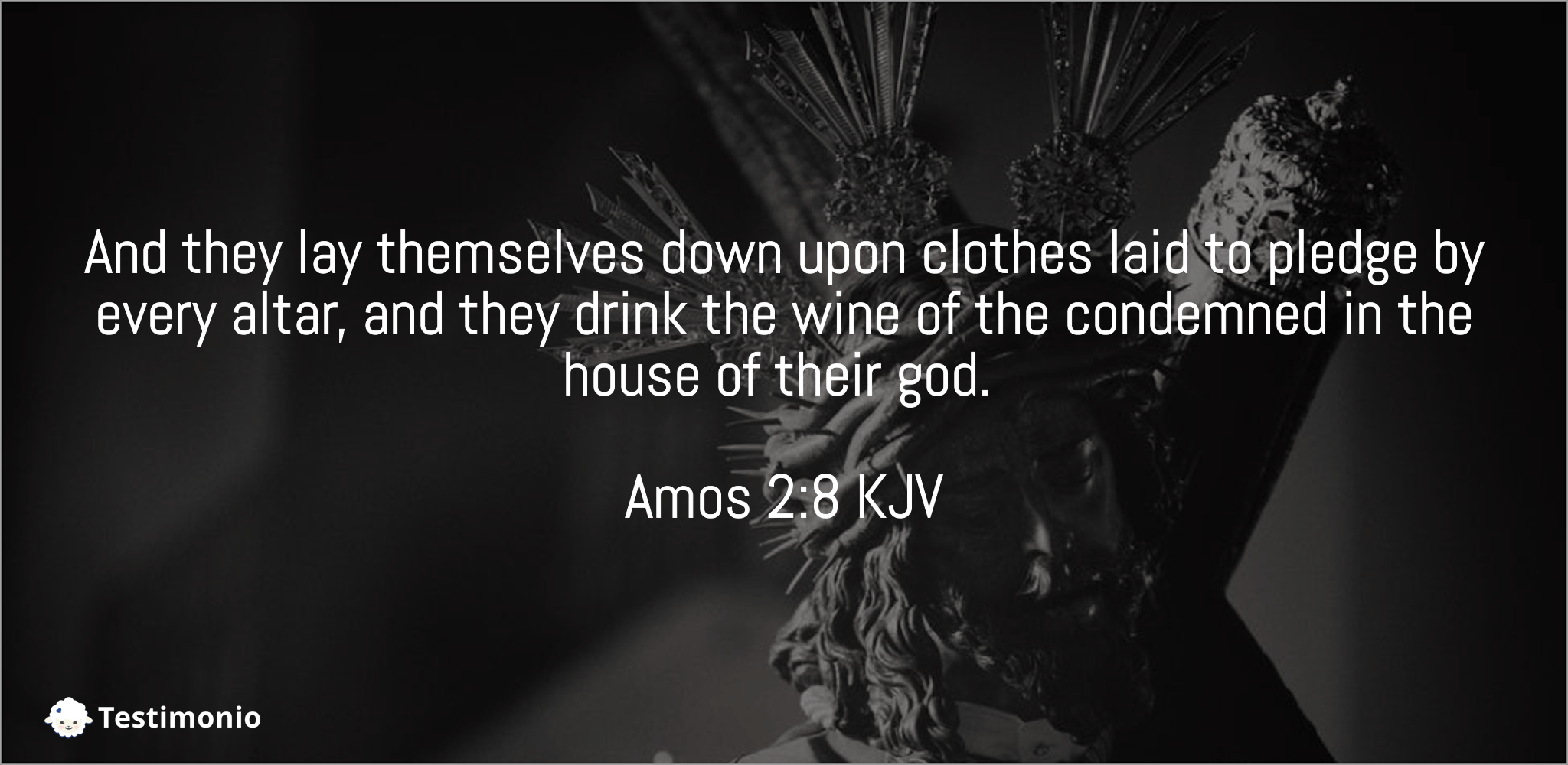 Amos 2:8