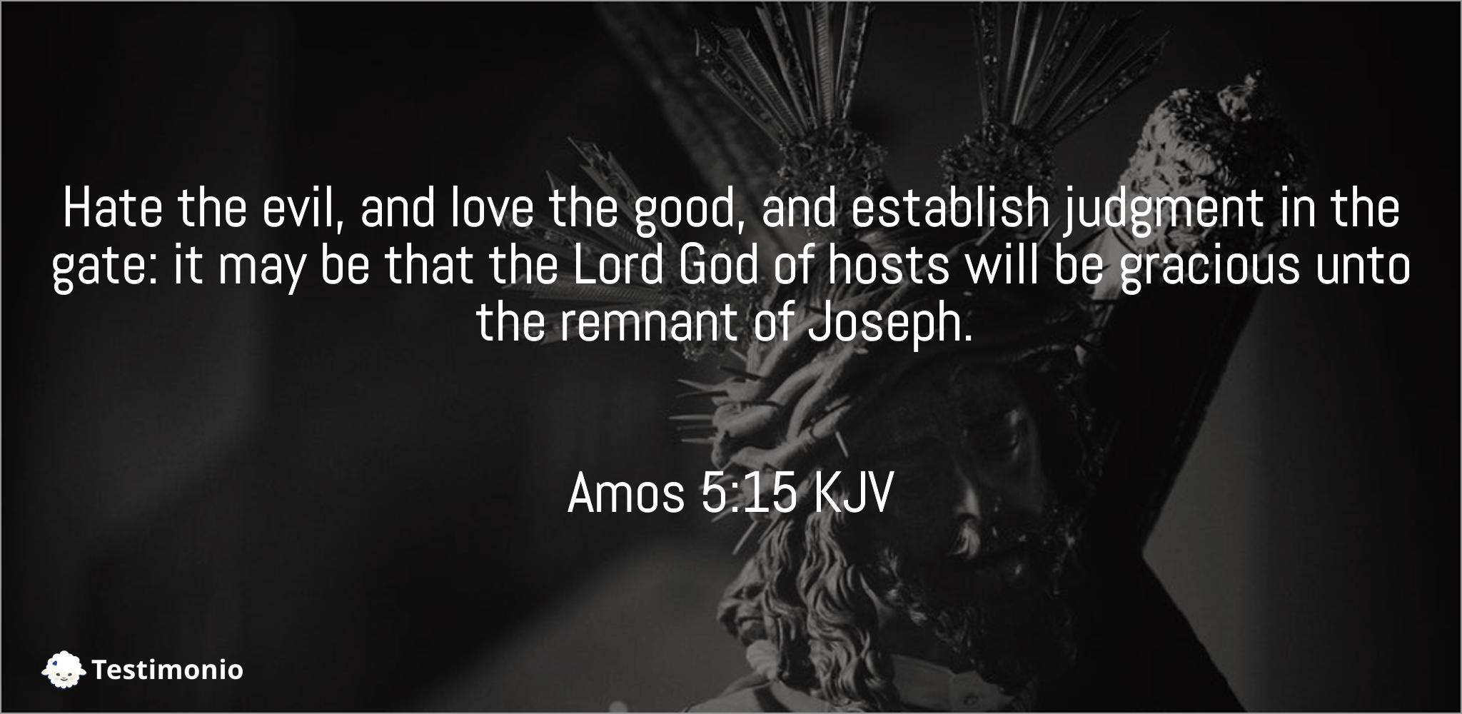 Amos 5:15