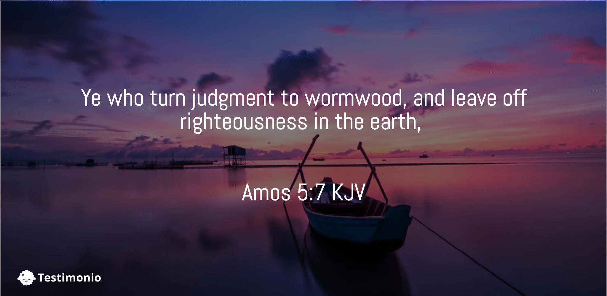 Amos 5:7