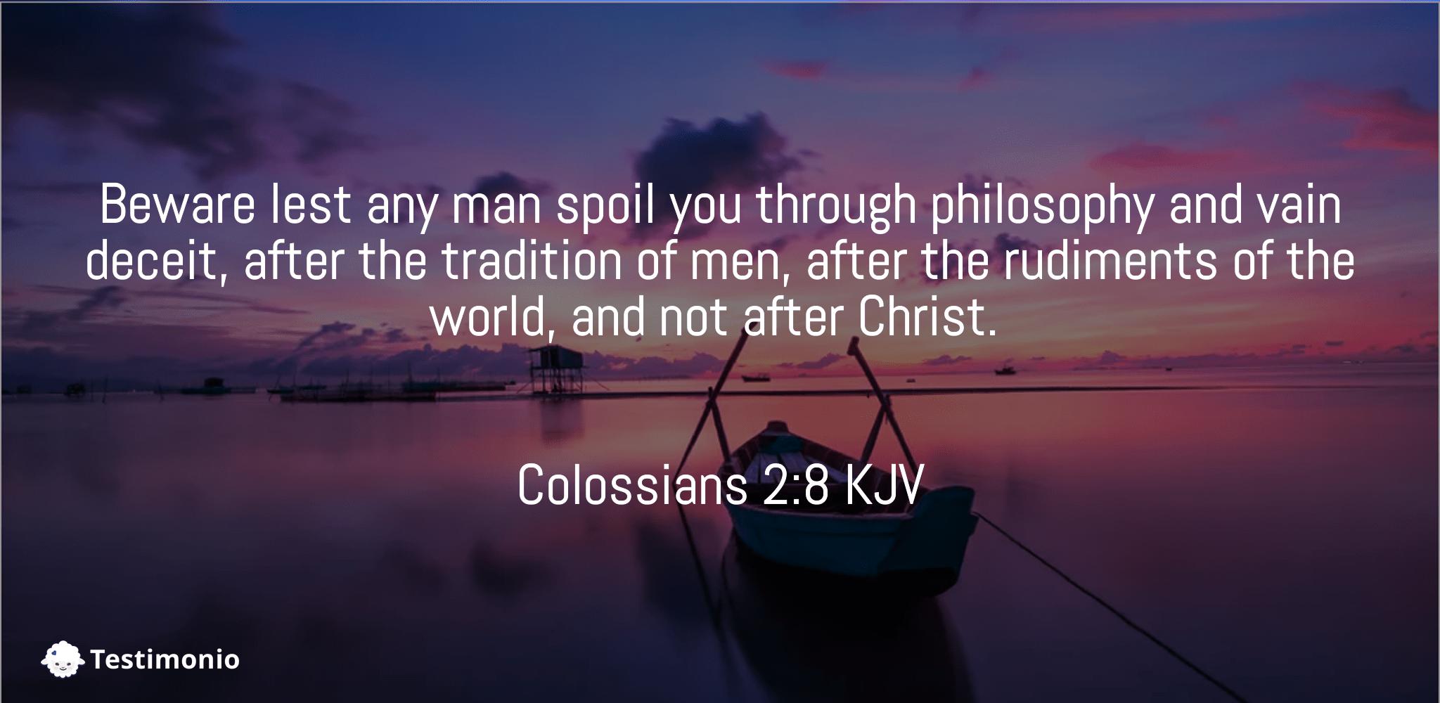 Colossians 2:8