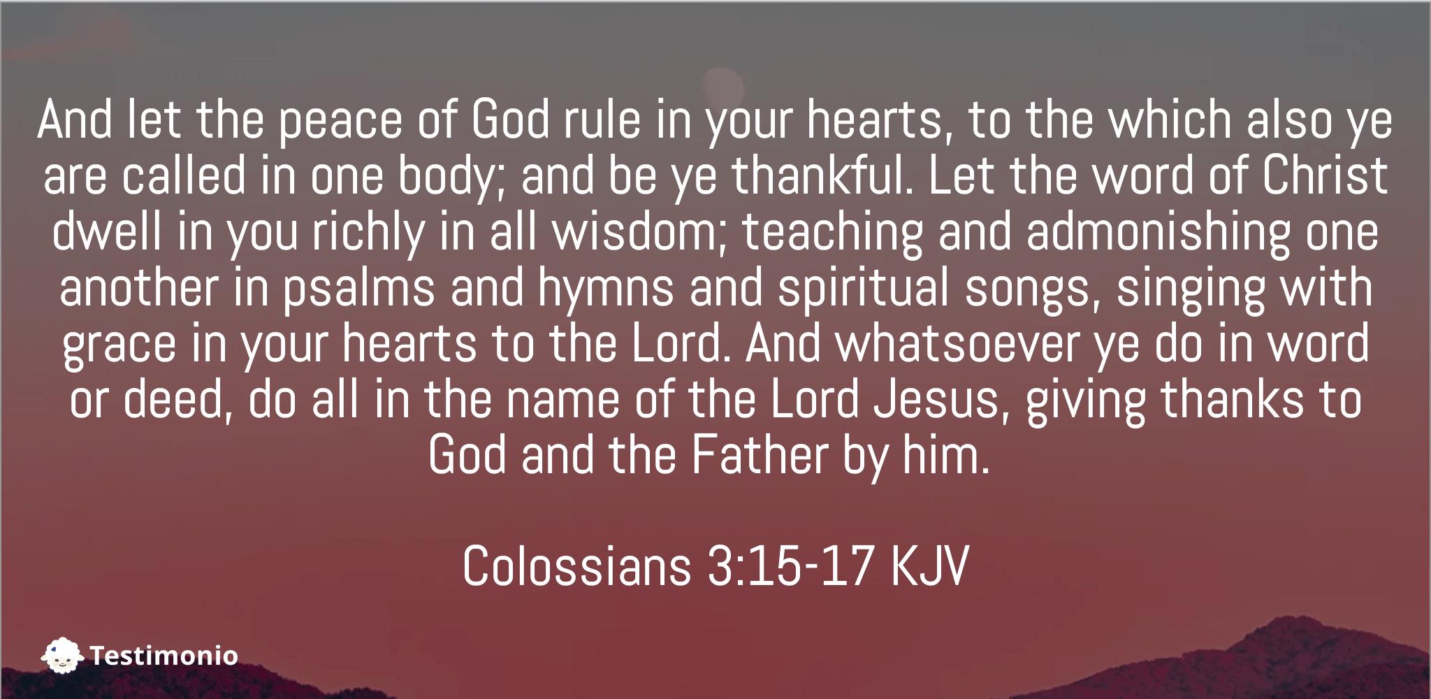 Colossians 3:15-17