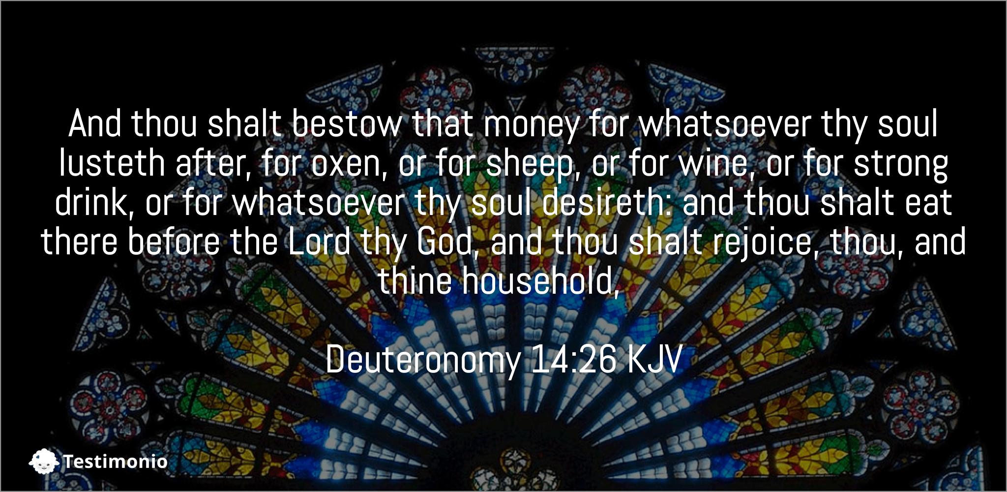 Deuteronomy 14:26