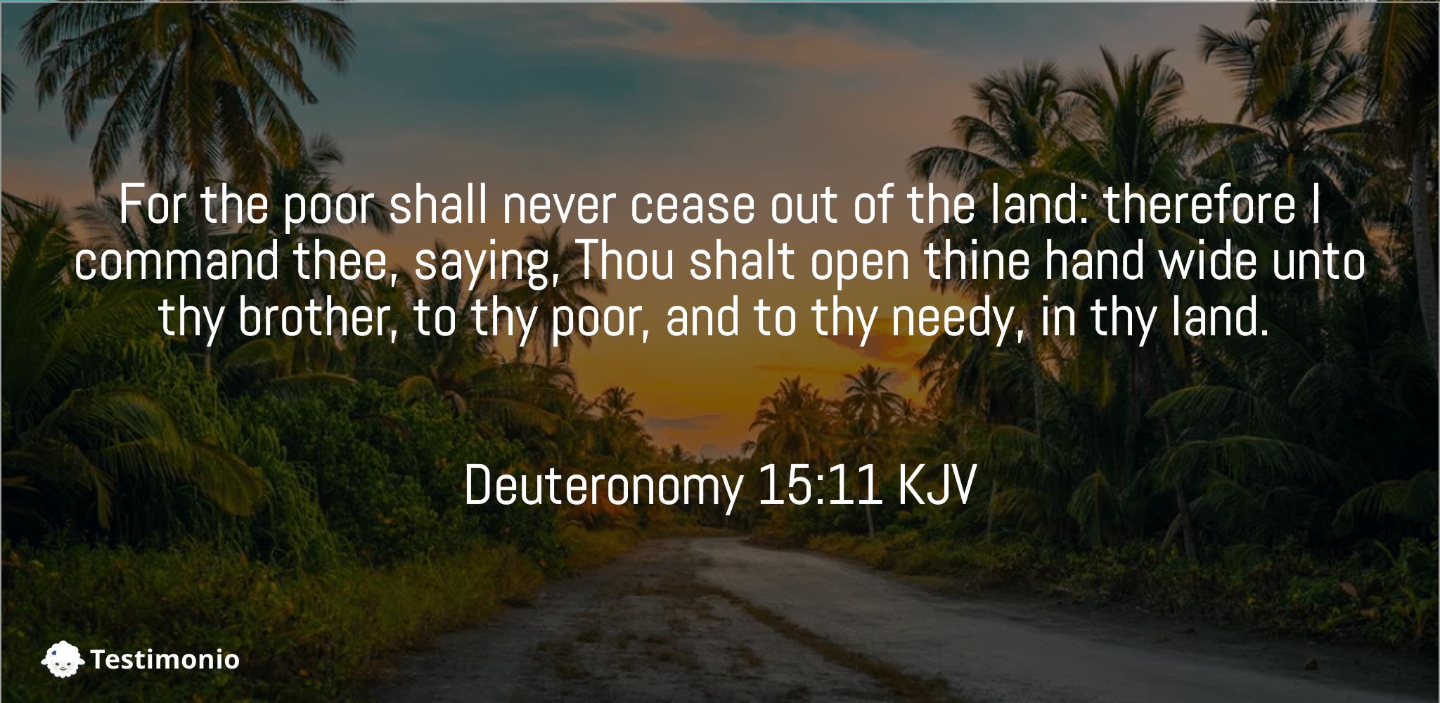 Deuteronomy 15:11