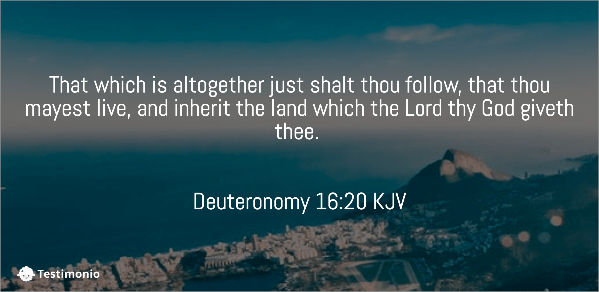 Deuteronomy 16:20