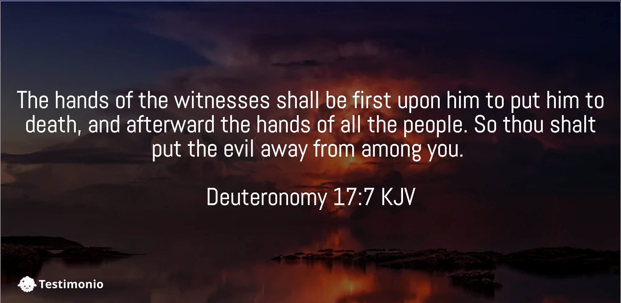 Deuteronomy 17:7
